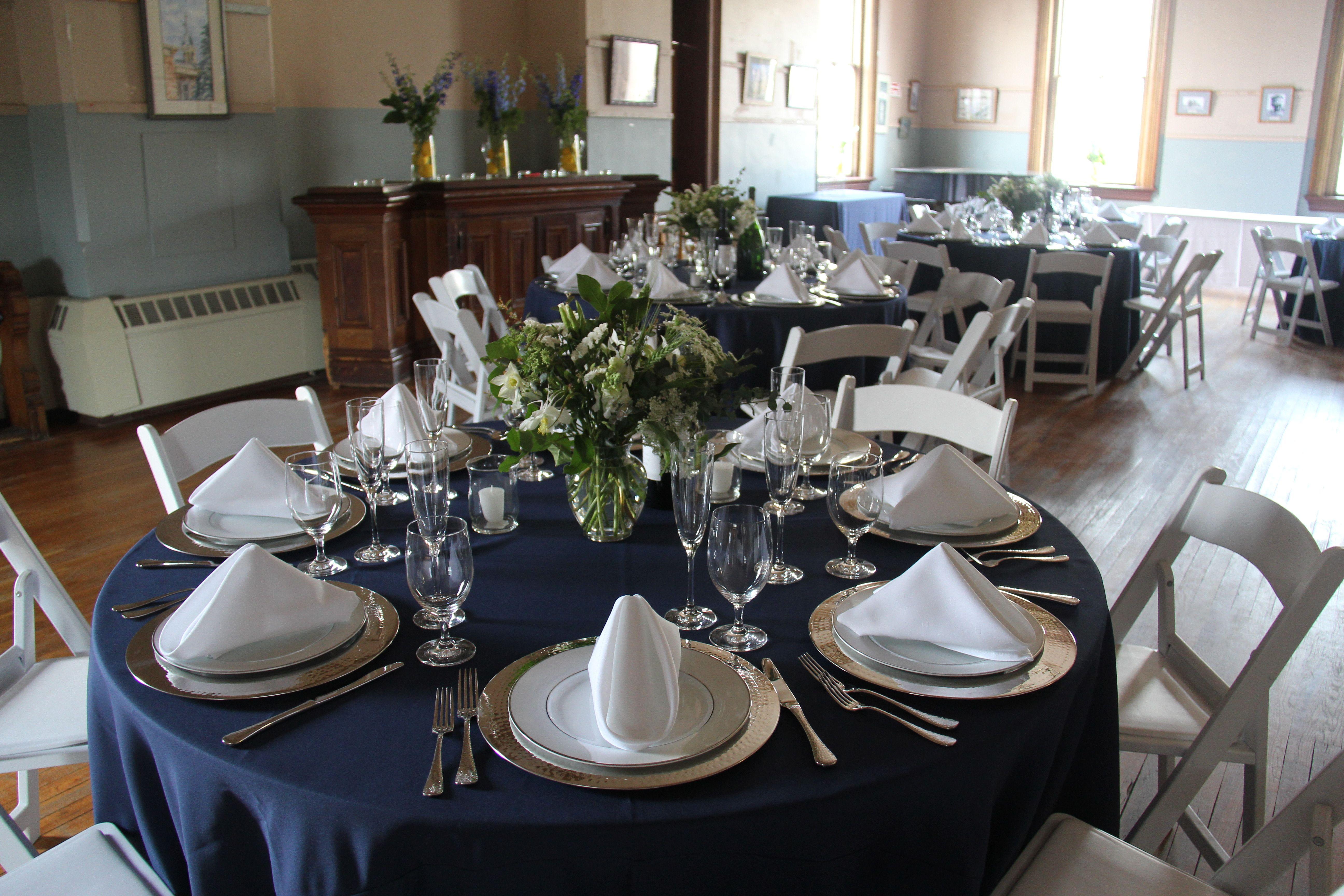 Navy Blue Table Wedding Ideas Pinterest