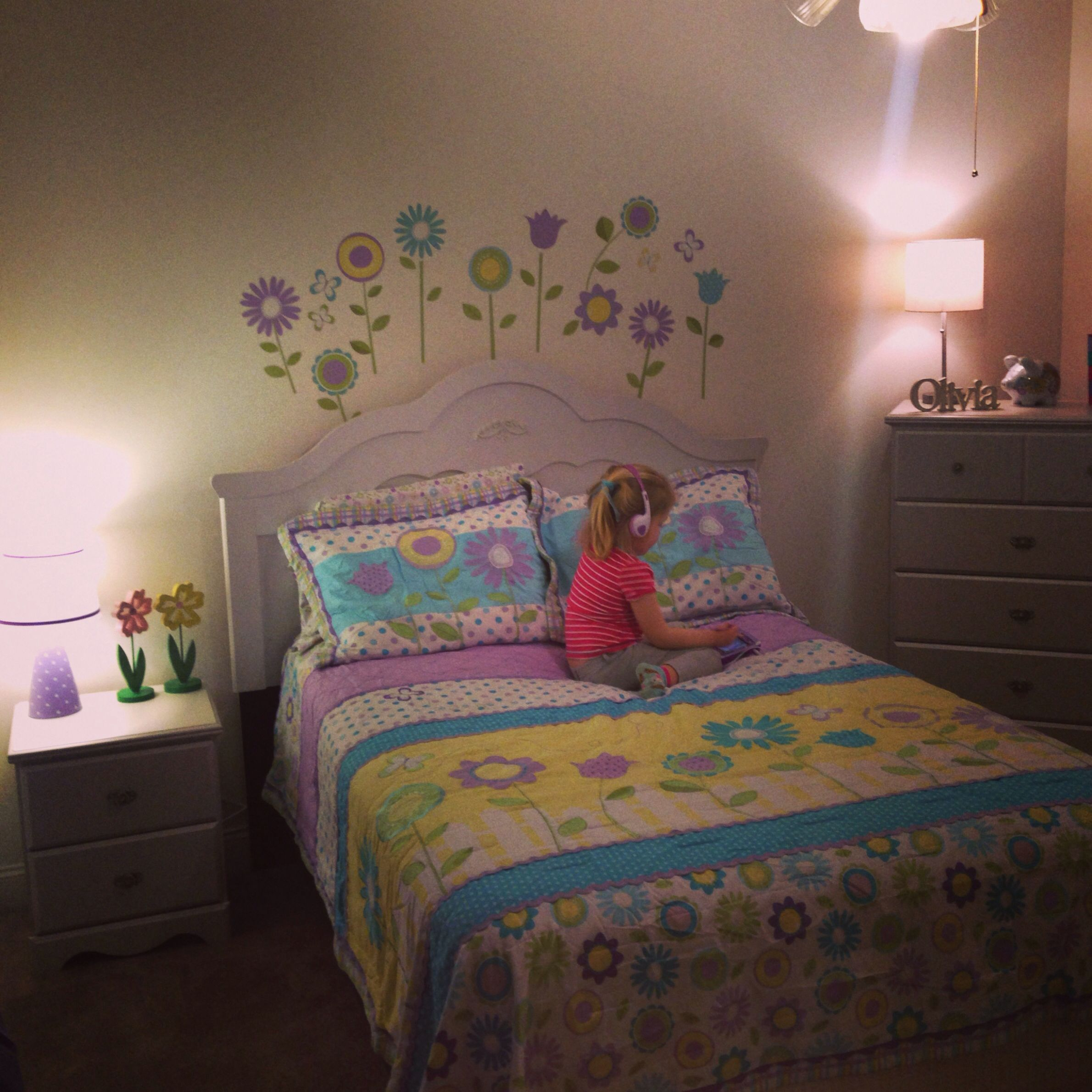 Little Girls Bedroom Yellow And Purple Southern Living Pinterest