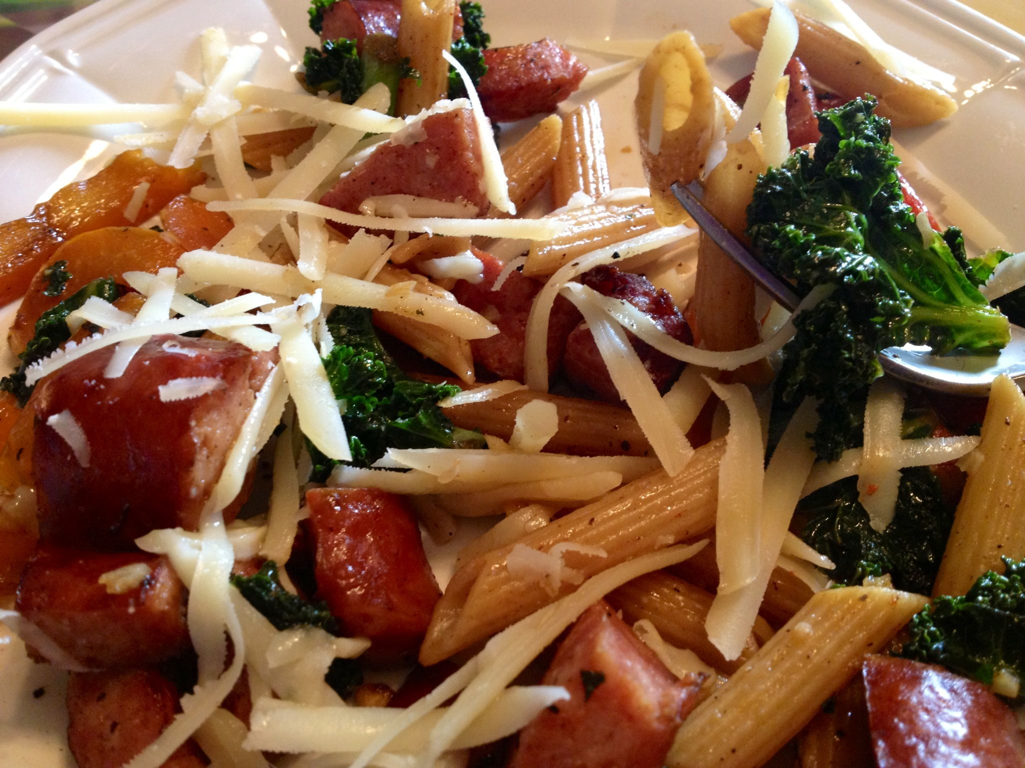 Baked Penne With Spinach, Roasted Red Peppers & BACON Recipe ...
