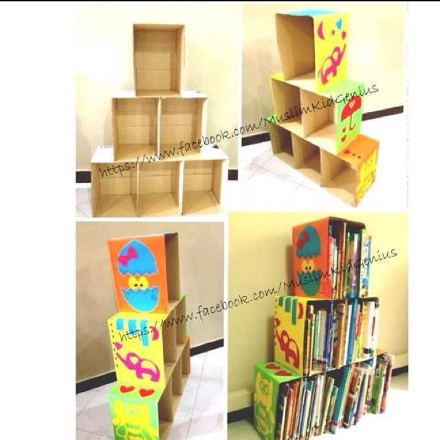 Diy cardboard bookshelf 28 images 37 diy bookshelf ideas unique and creative ideas diy - Diy projects with a cardboard box boundless creativity ...