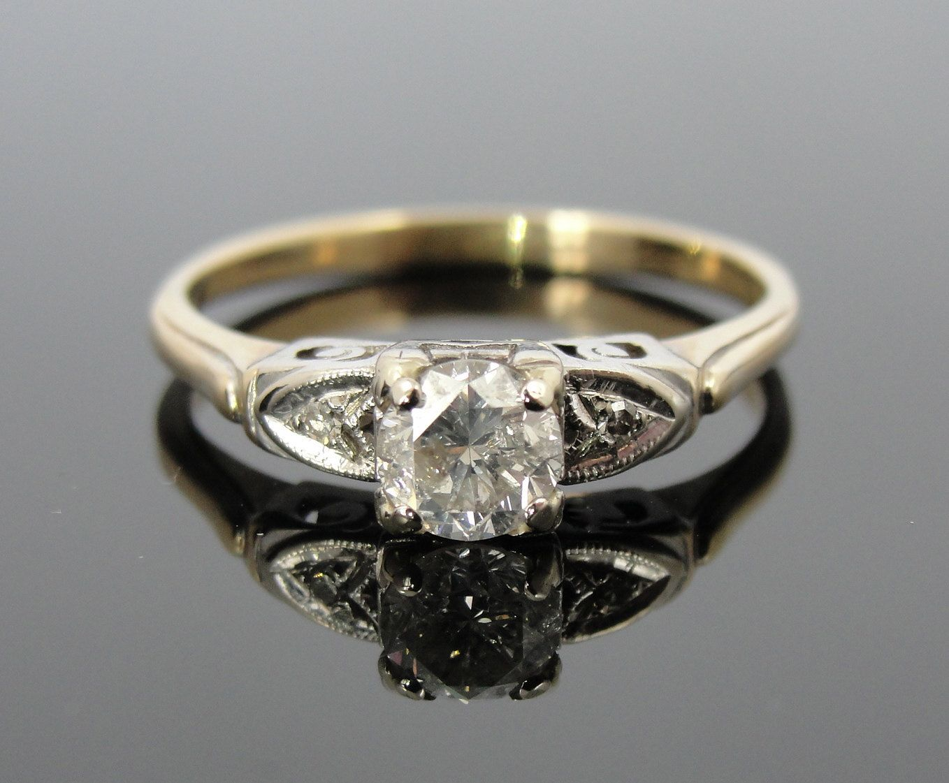 Intricate vintage engagement ring Bling