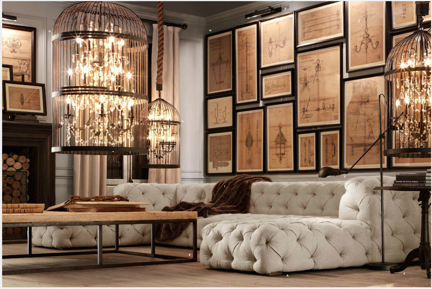 restoration hardware office inspiration ideas