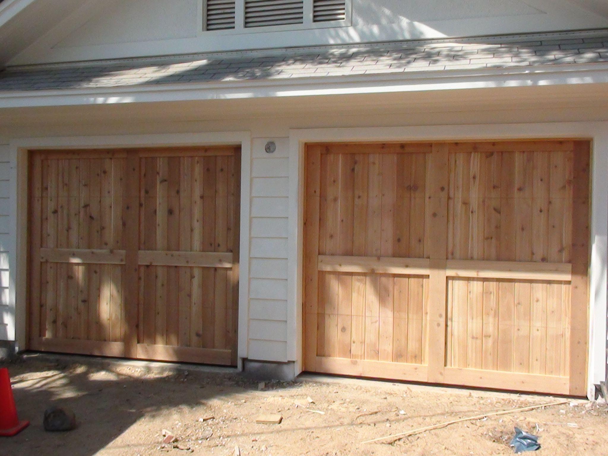 1536 #A1662A 8x7 Wood Garage Door Cedar Natural Architecture Pinterest wallpaper 8x7 Garage Doors 37052048