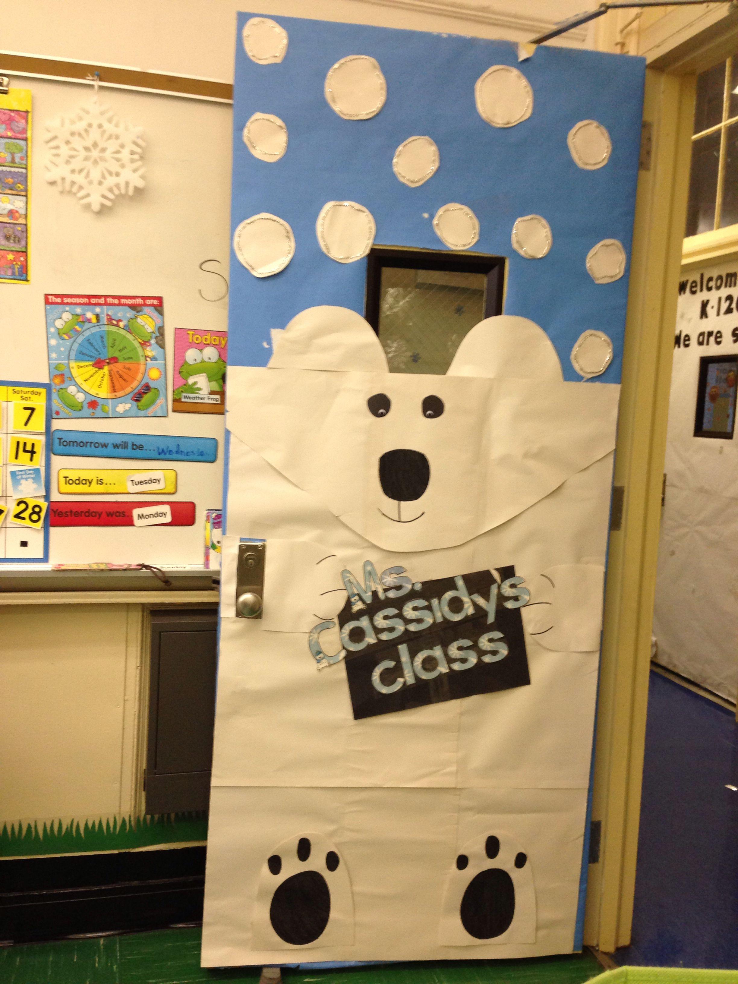 polar bear classroom door classroom doors pinterest