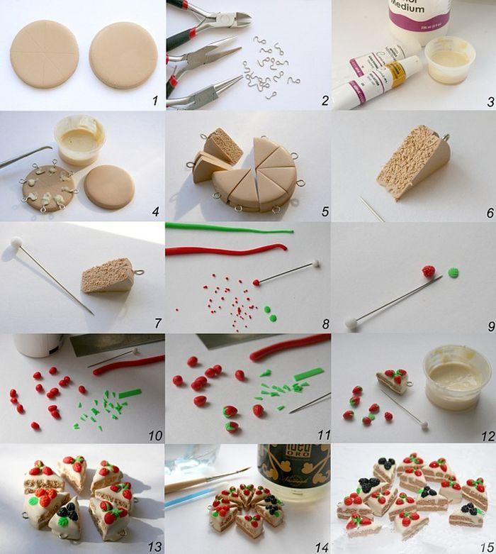 Как сделать куклам еду из глины 666