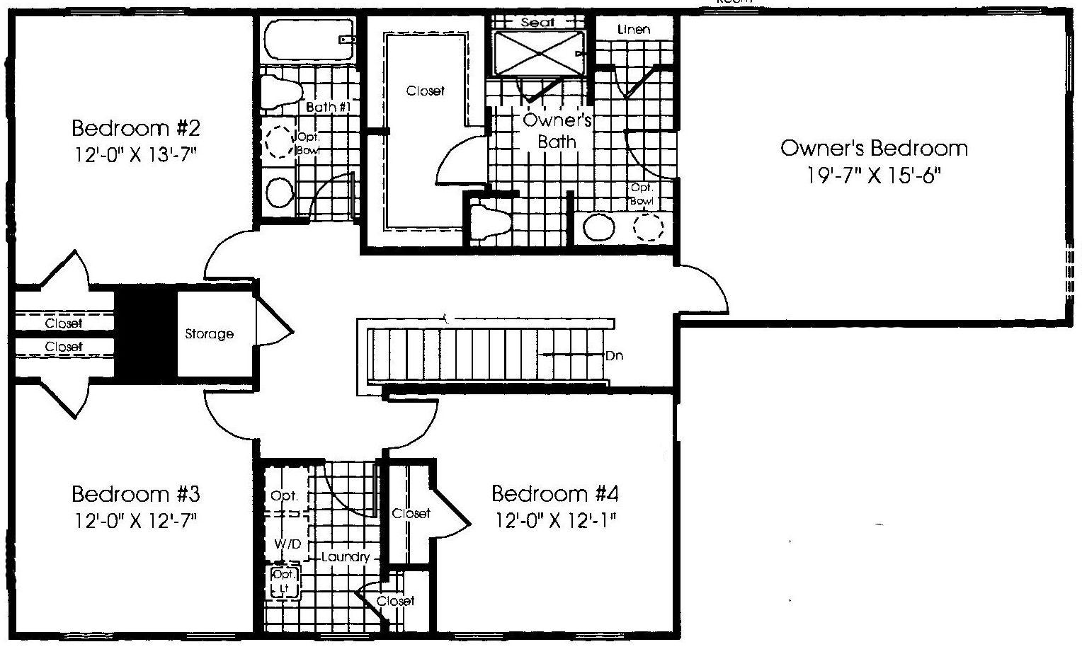 Upstairs Floor Plan Ryan Homes Verona New House