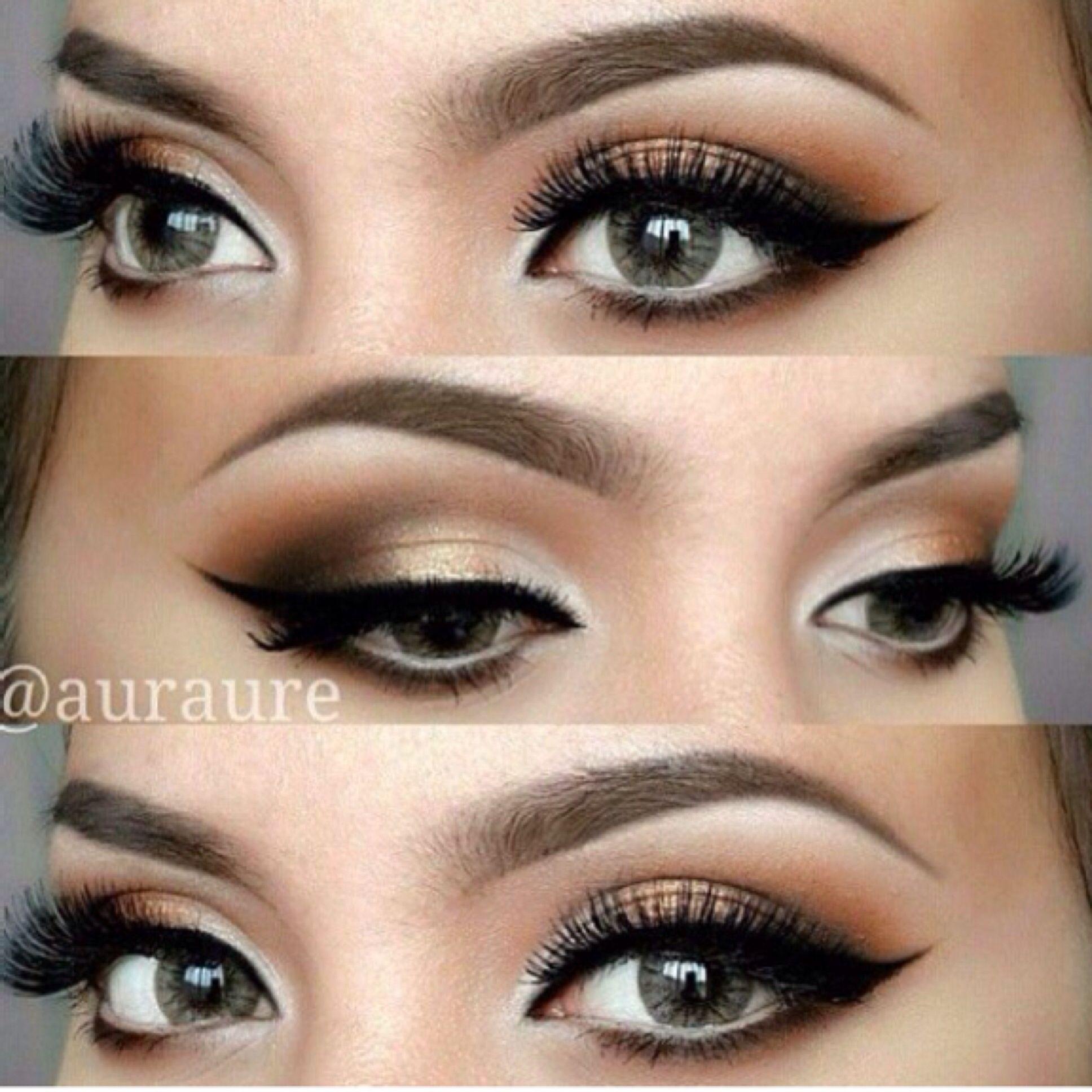 cat eyes, dramatic shadow Make-up Pinterest