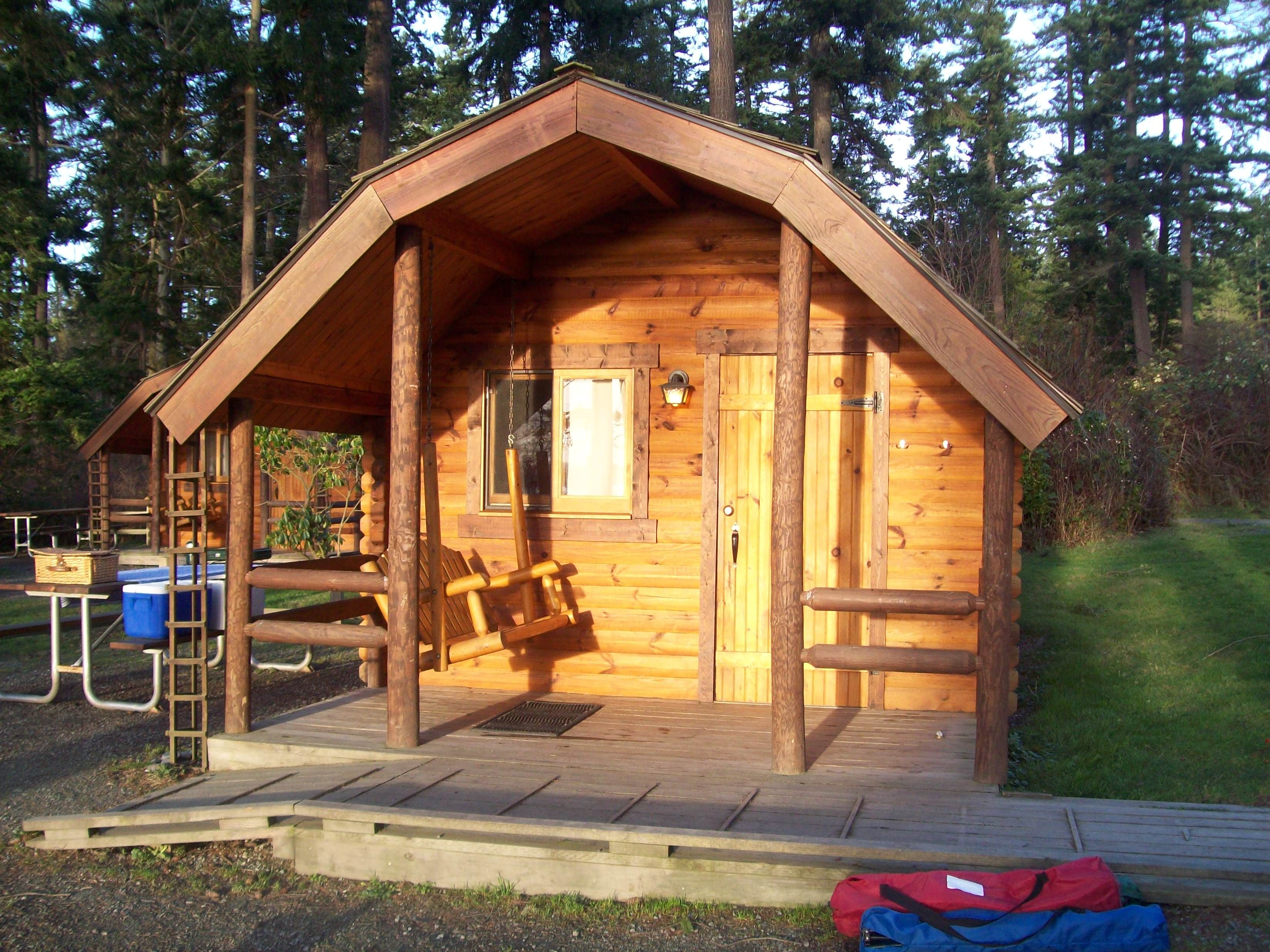 Cabin bay view state park wa glamping pinterest for Washington state park cabins