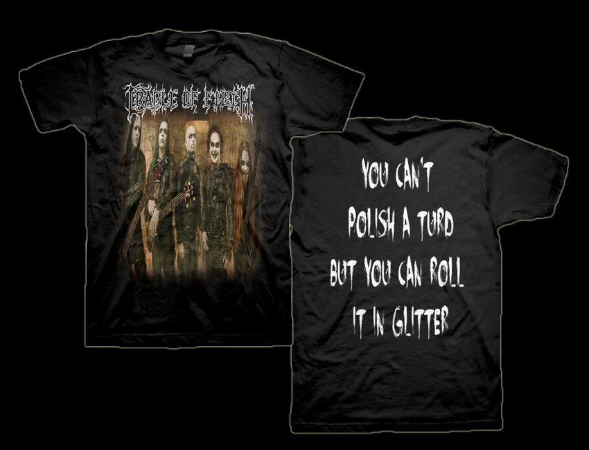 by just say rock inc band merchandising on cradle of filth. Black Bedroom Furniture Sets. Home Design Ideas