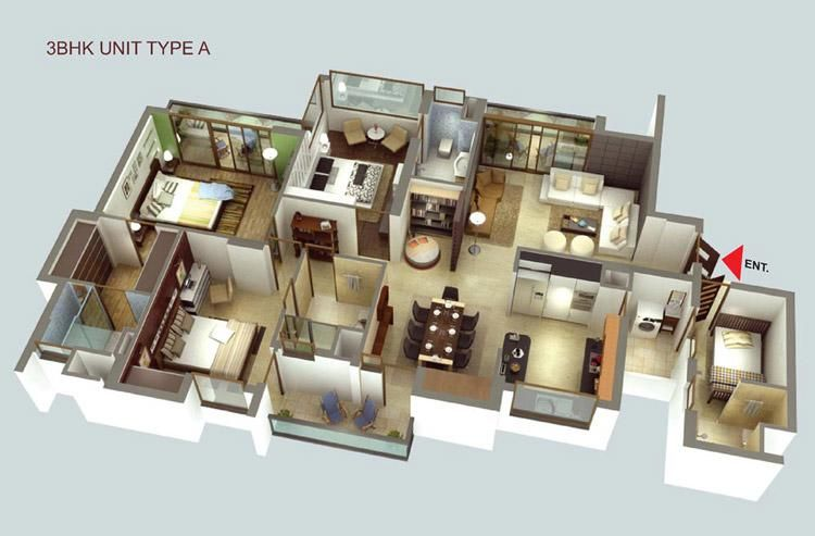 Luxury apartment 3d house plans floor plans pinterest for House design layout 3d