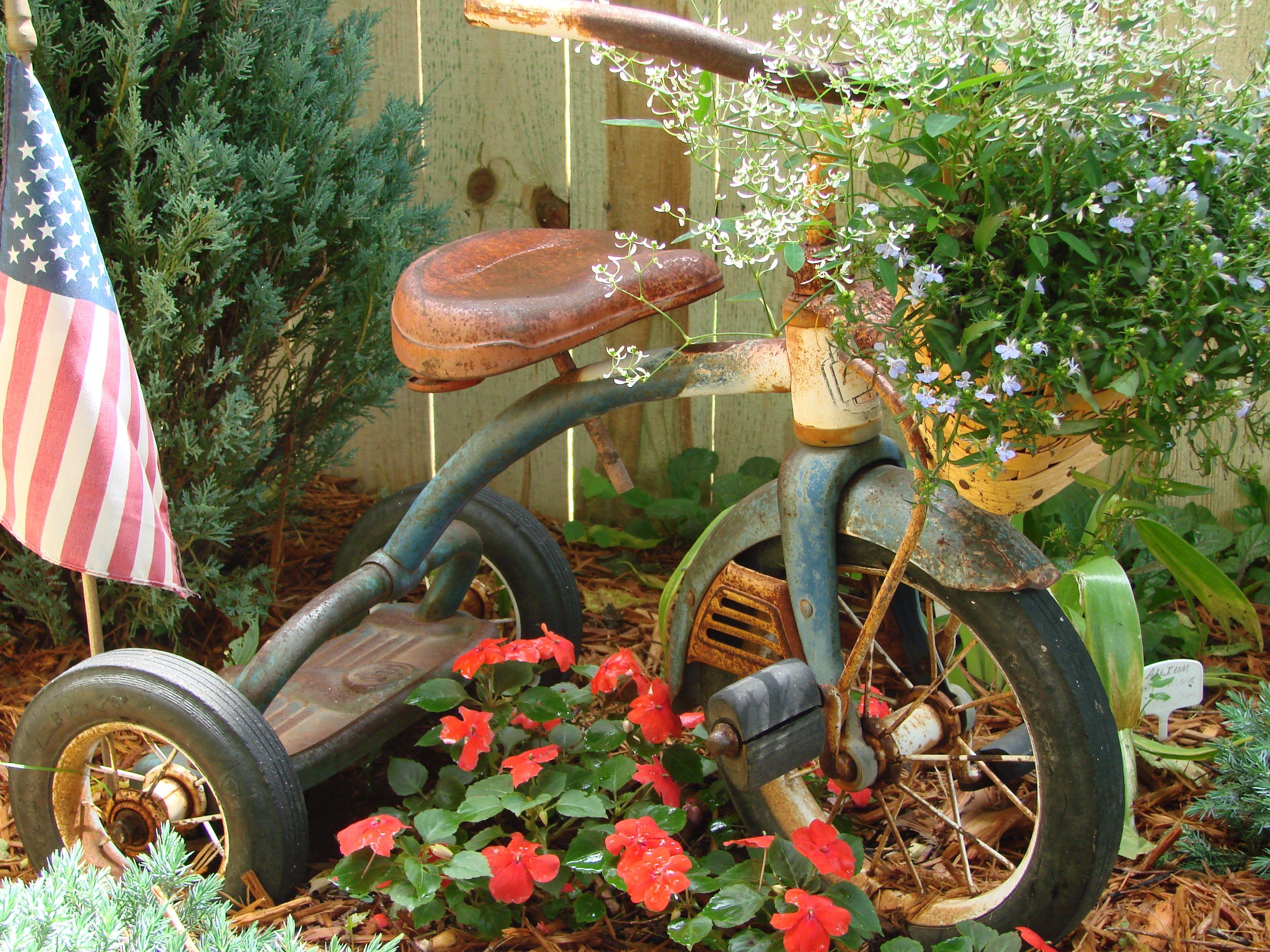 Little Trike Garden Junk Gardening And Garden Art