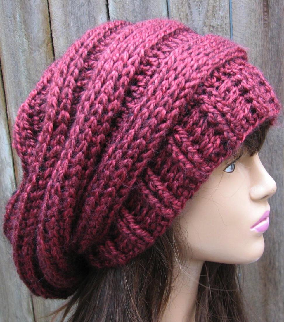 Crochet Hat - Slouchy Hat Pattern Crafts Pinterest