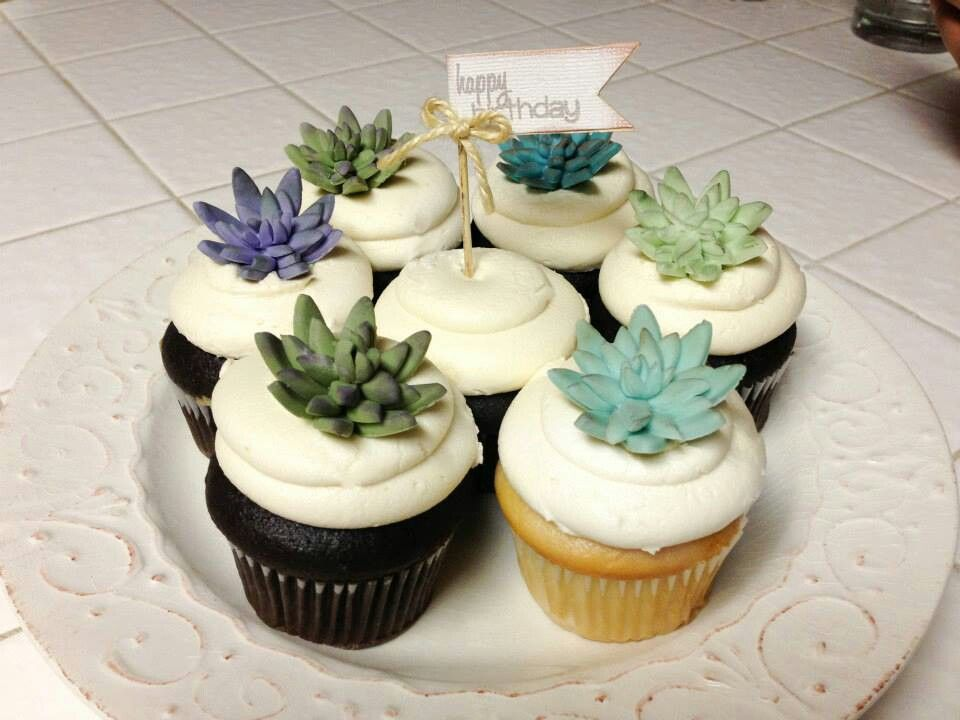 Succulent cupcake toppers | Nice Day for a Dream Wedding ...