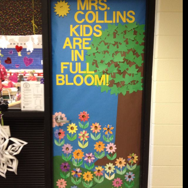 Classroom Decoration Ideas For Grade 2 : Nd grade spring classroom door my pinterest