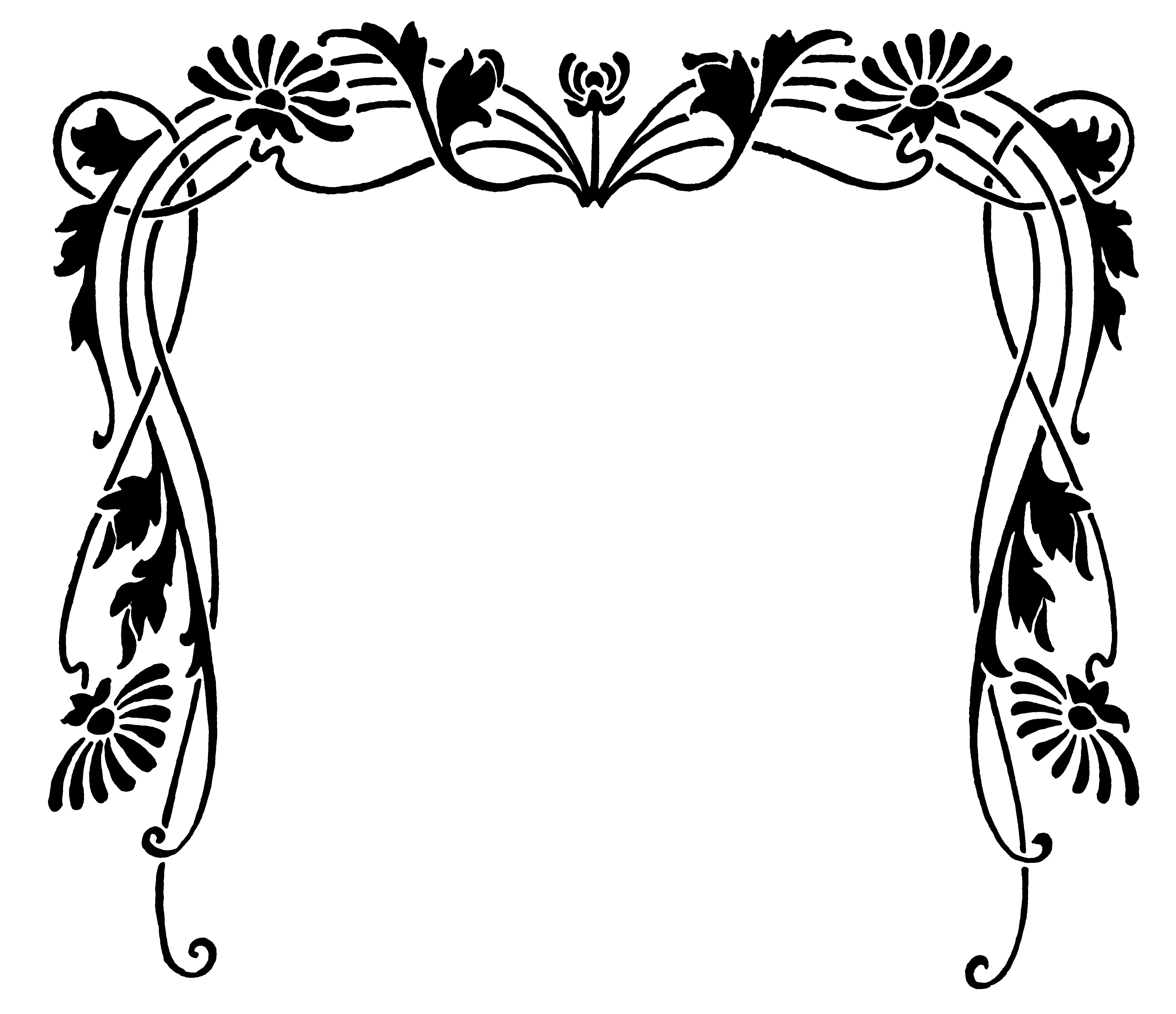 Art Nouveau Border For Embroidery Art Nouveau Art Deco Arts And