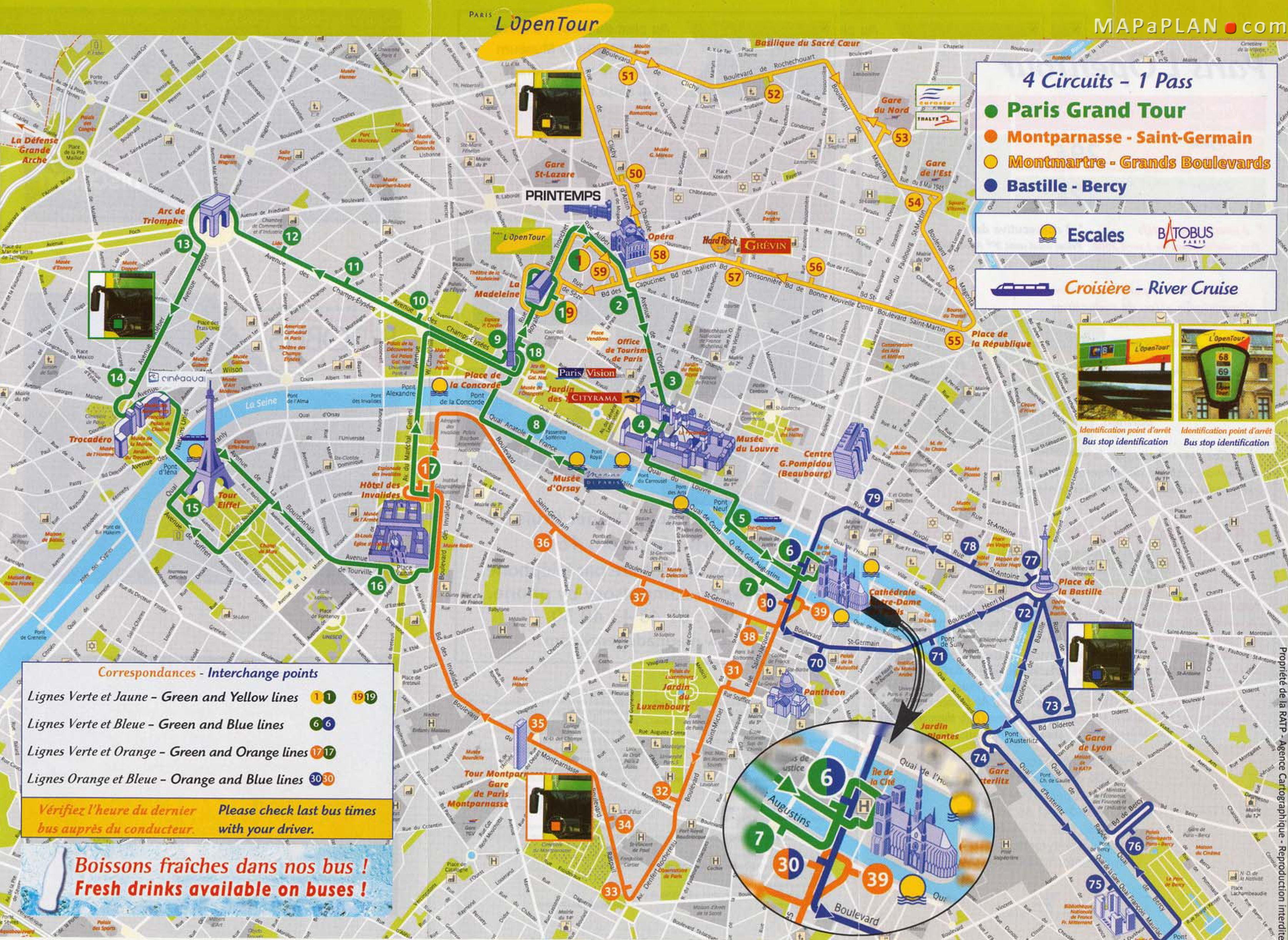 Tourist Attraction Map Vacations Paris Pinterest