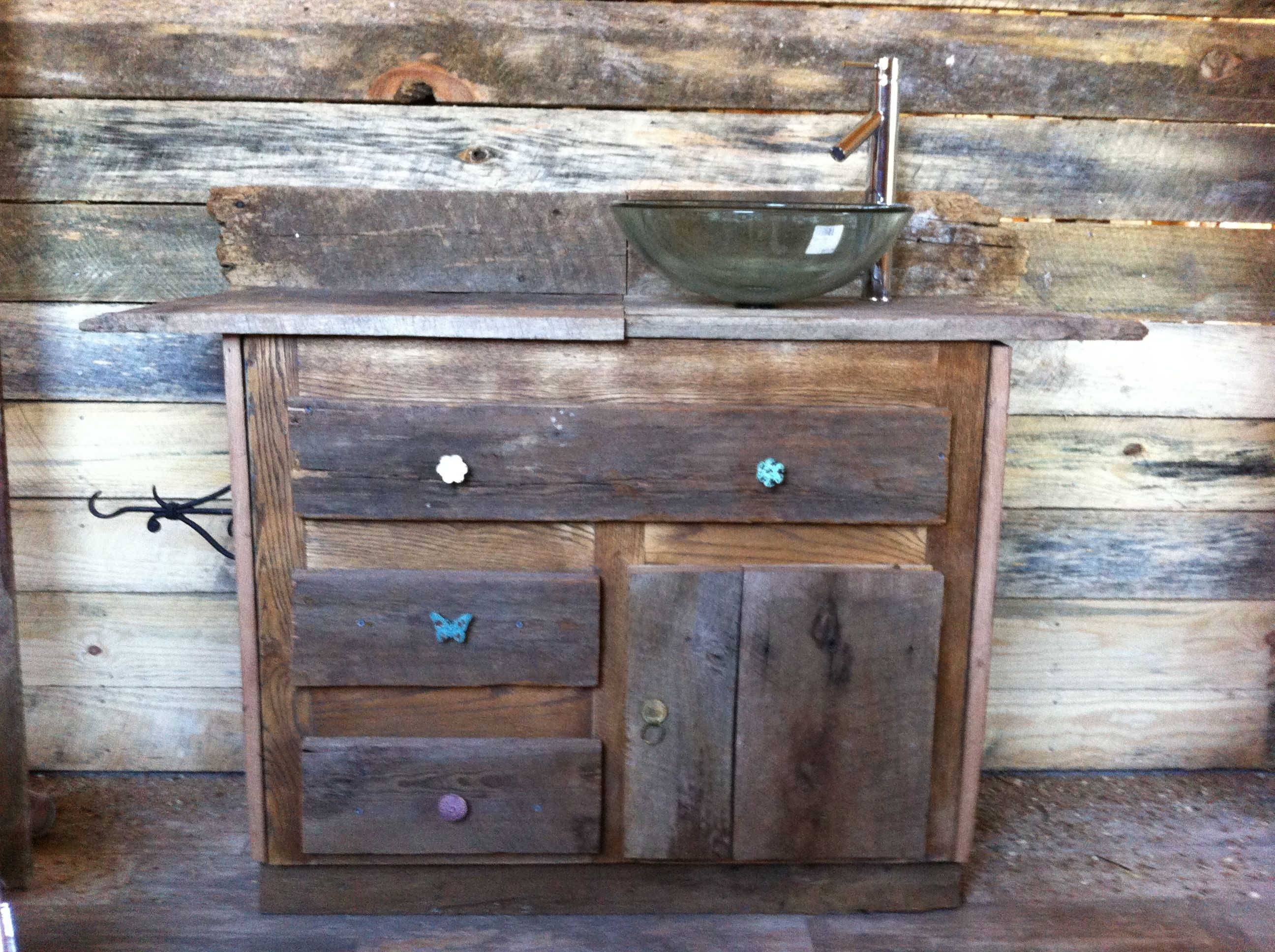 Barn House Sink : Barn wood bathroom sink cabinet Home Pinterest