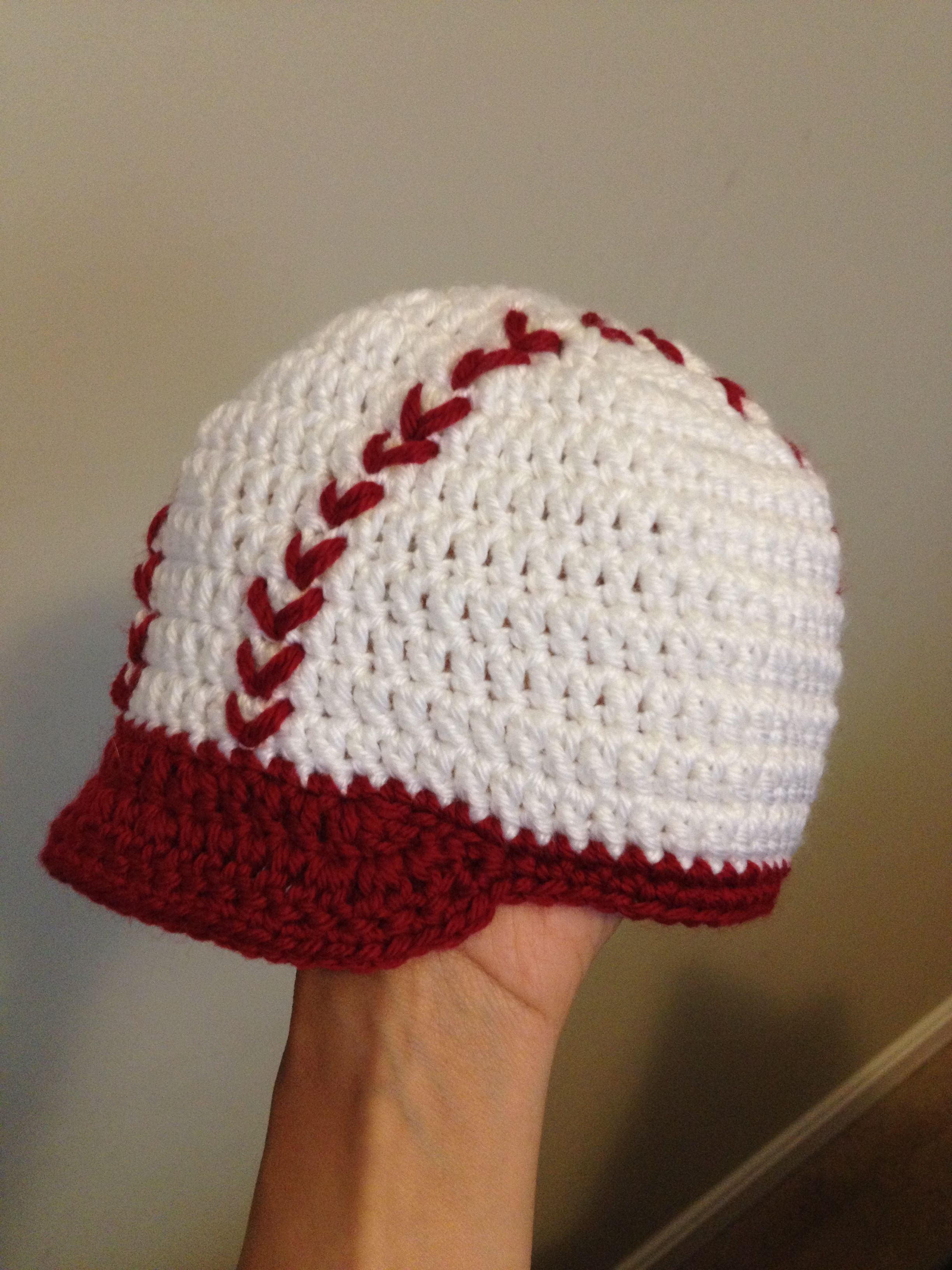 Free Crochet Pattern Newborn Baseball Cap : free baseball crochet hat pattern Car Tuning