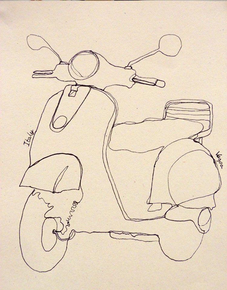 Continuous Line Contour Drawing Artists : Continuous line drawing no art class pinterest