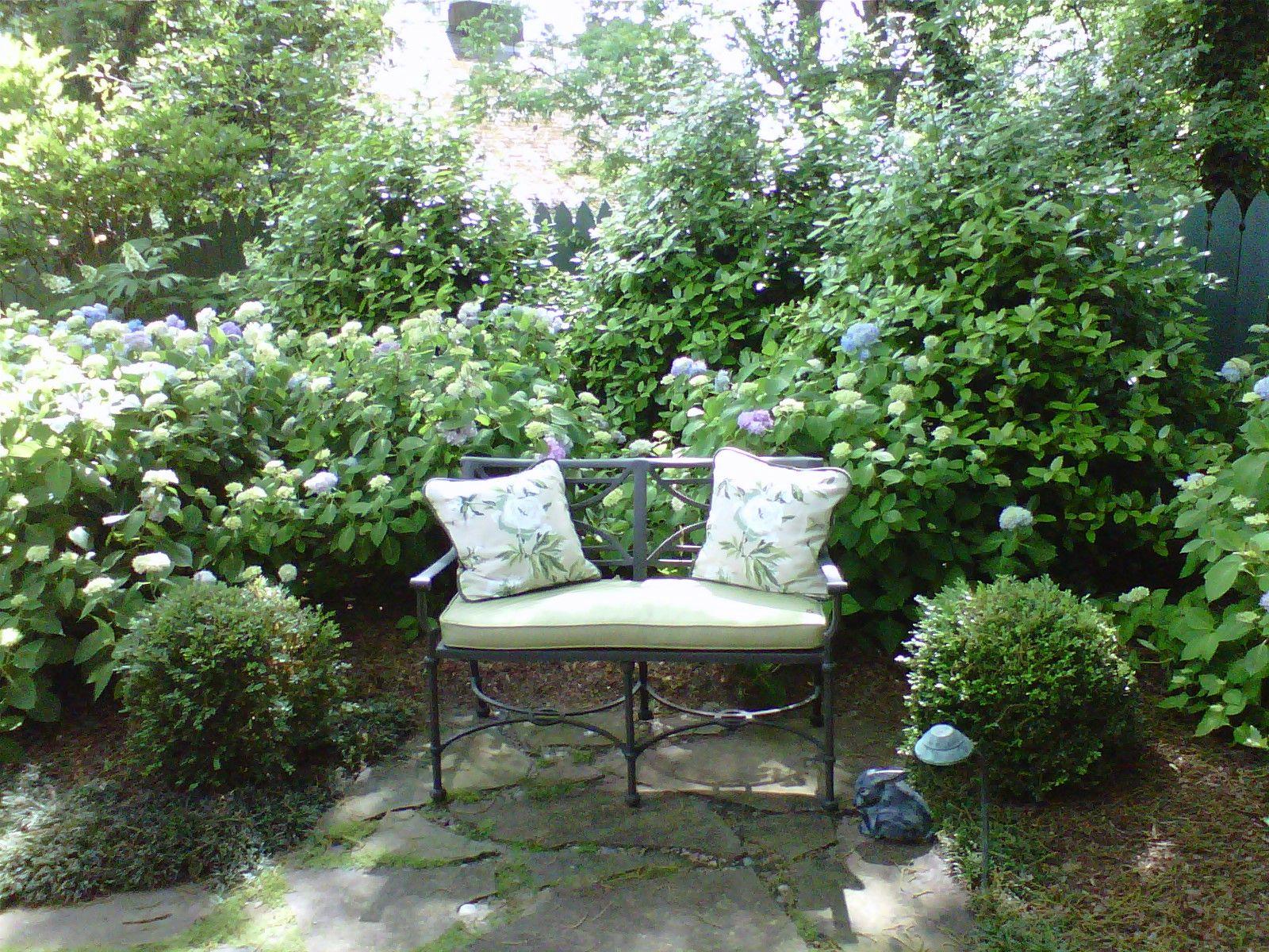 small garden bench landscaping pinterest