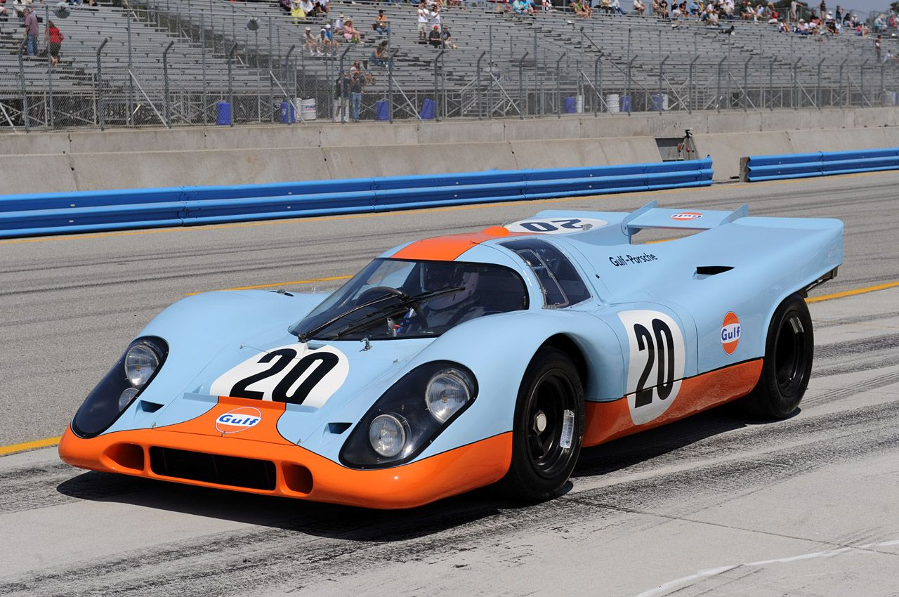 The Porsche 917 In Gulf Livery Racing And Drivers