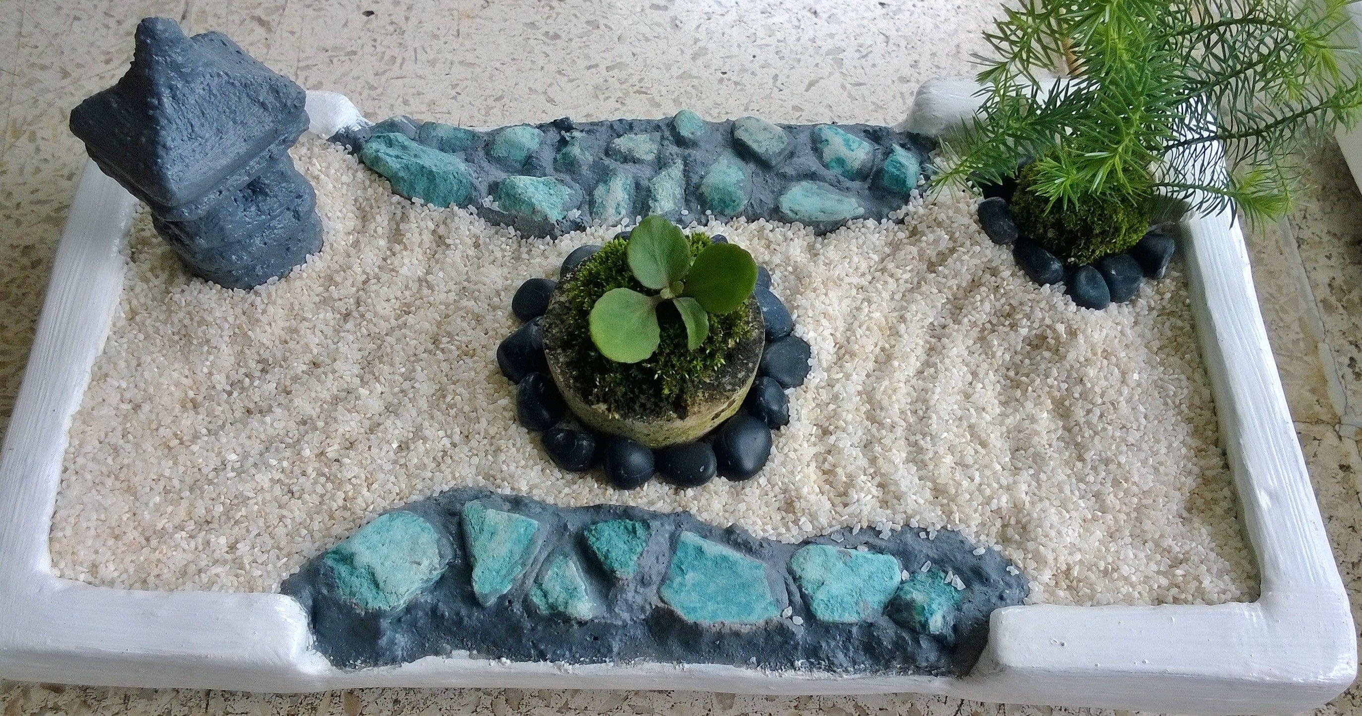 Succulent Juniper In Mini Zen Garden Mini Zen Garden