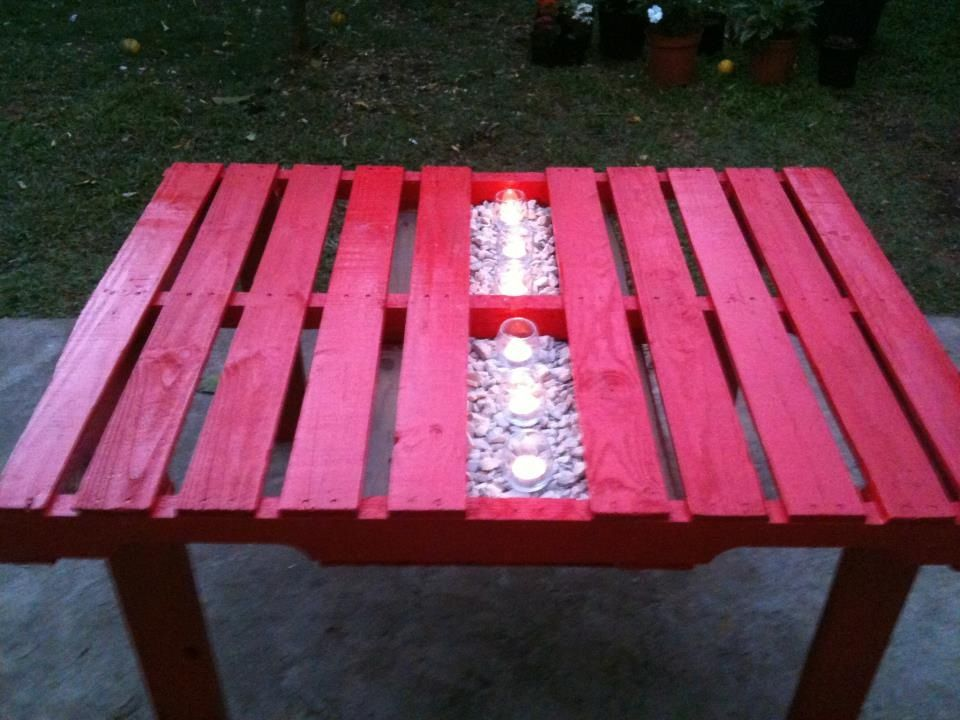 Patio table made from pallets diy outdoor diy projects - Patio table made from pallets ...