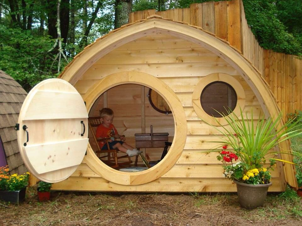 kids fun hobbit home outdoor playhouses pinterest