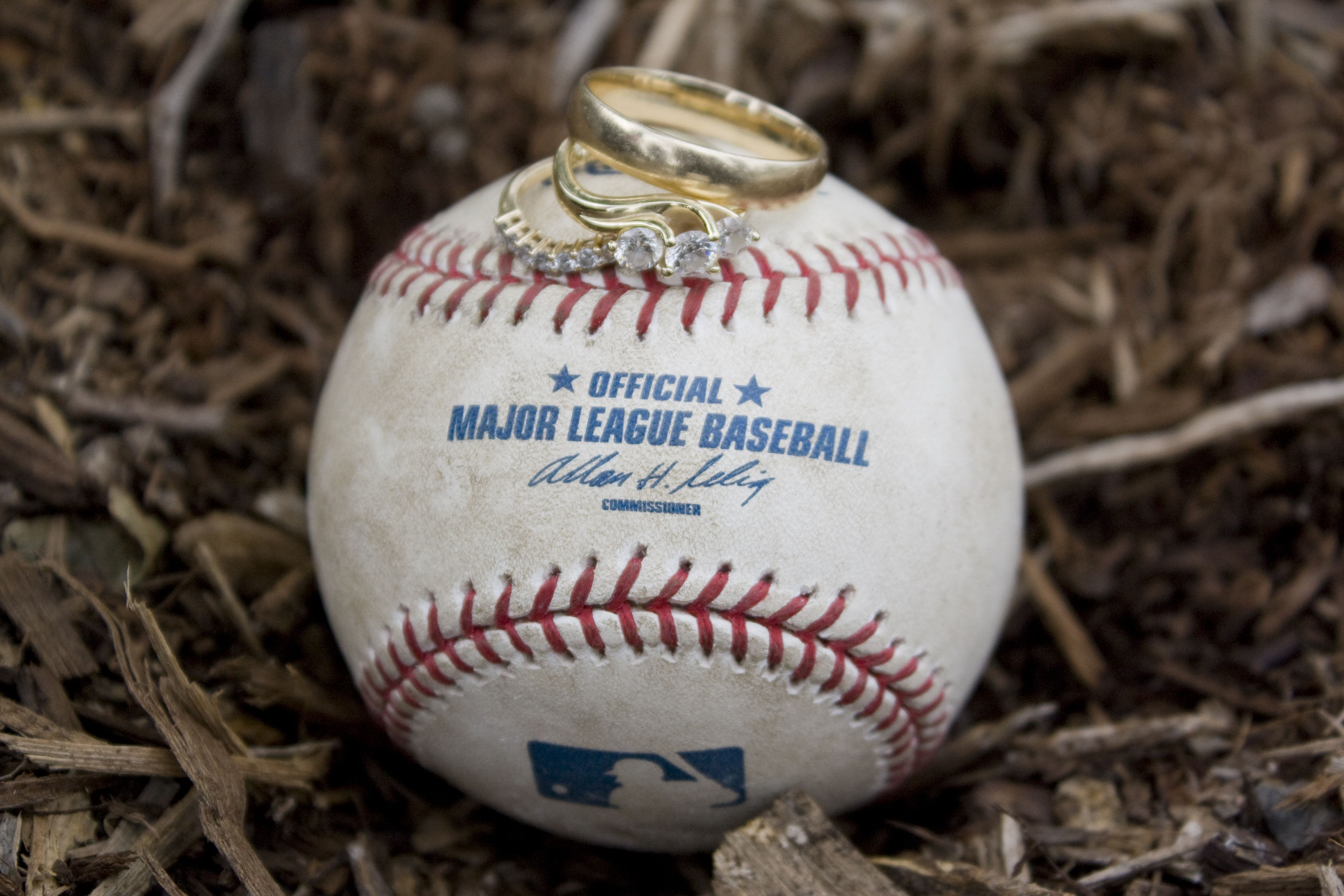Official MLB Baseball With Wedding Rings Weddings On Weddings On We