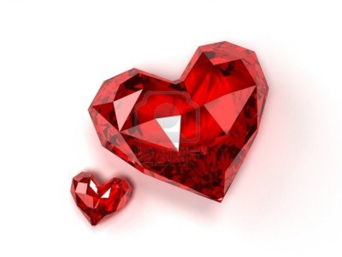Ruby Gemstone Heart ener