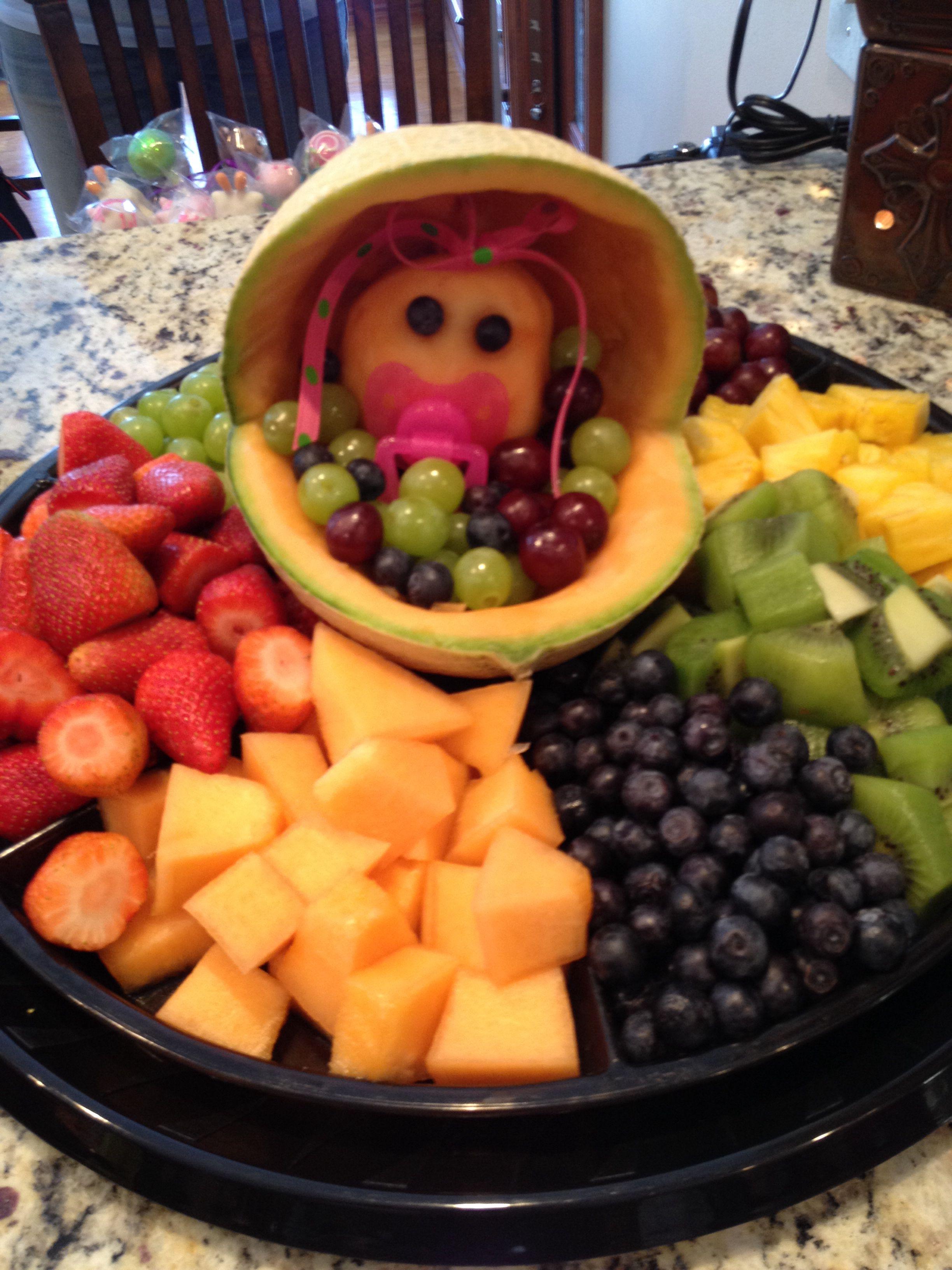 baby shower fruit tray kid tips pinterest