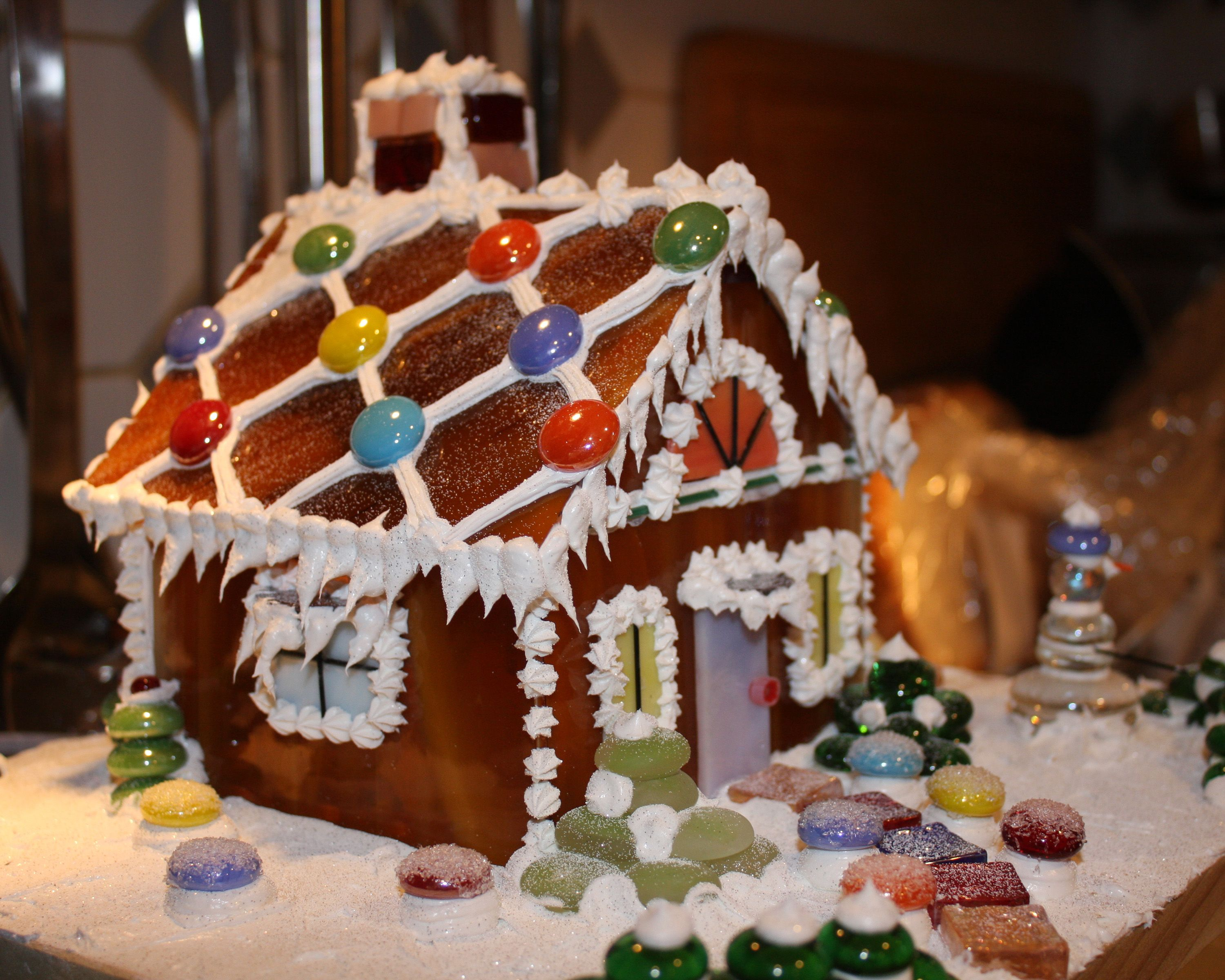 Glass gingerbread house | Stained Glass | Pinterest