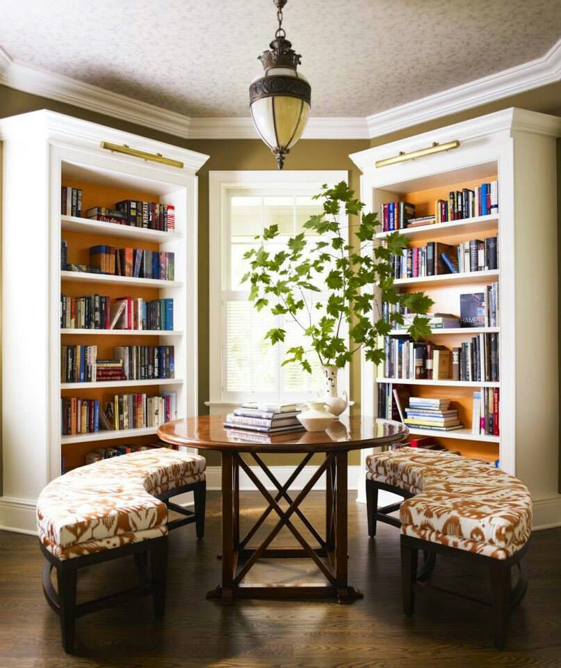 Home Library Ideas Decorating Pinterest