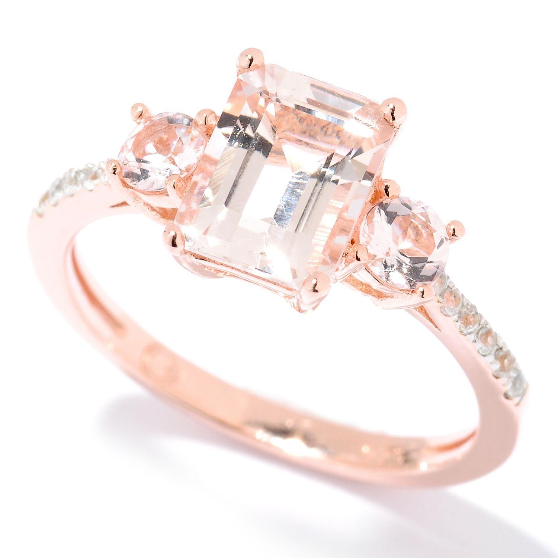 emerald cut morganite ring jewelry