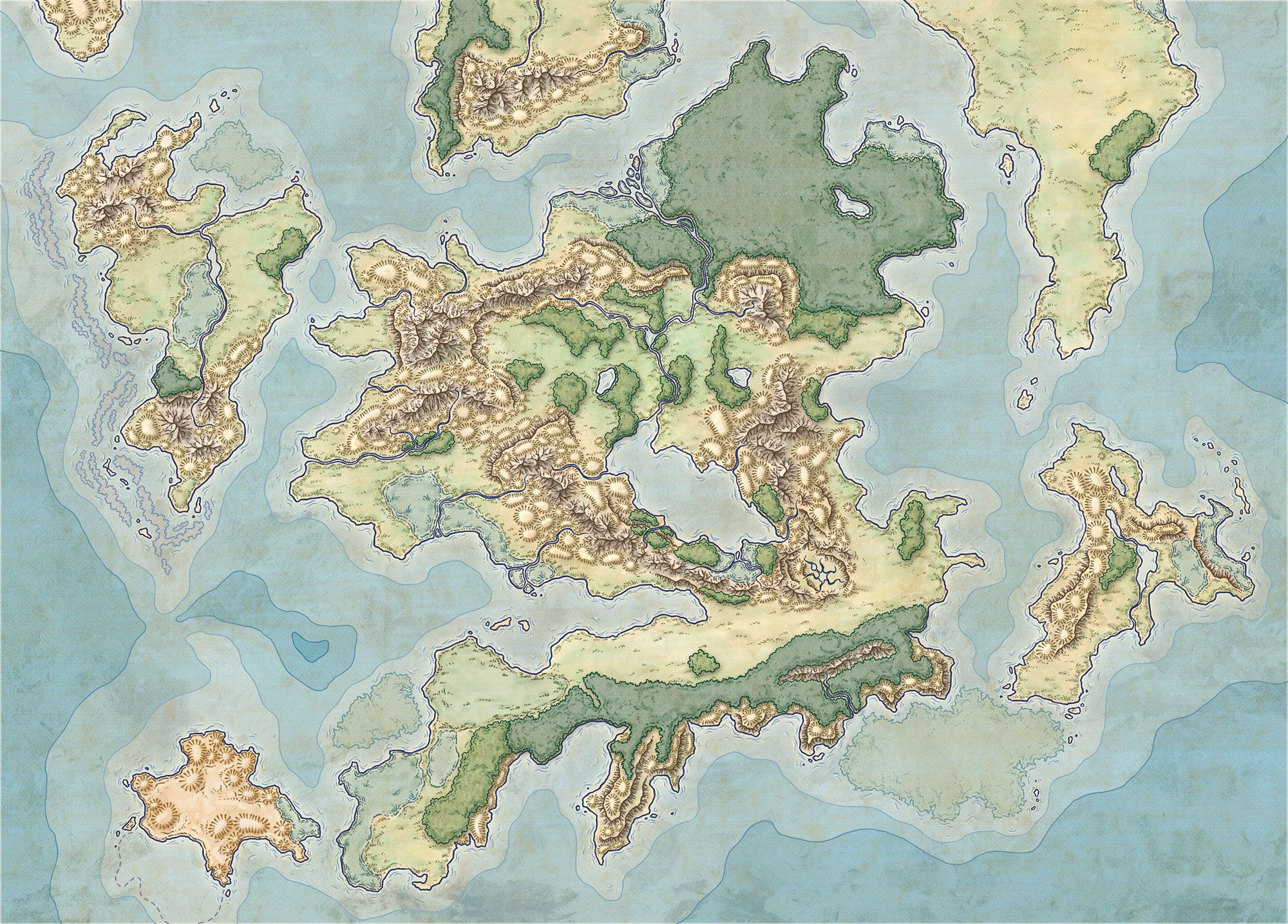 Map Of An Archipelago Gaming Maps In 2019 Fantasy
