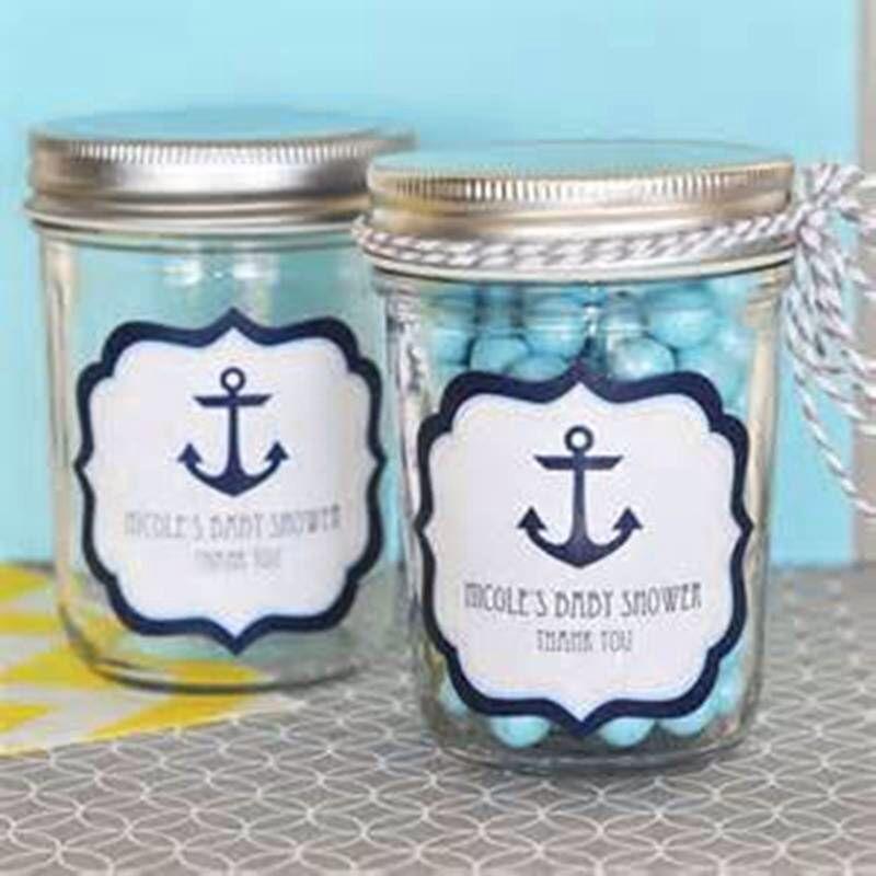 nautical mason jar favors baby shower pinterest