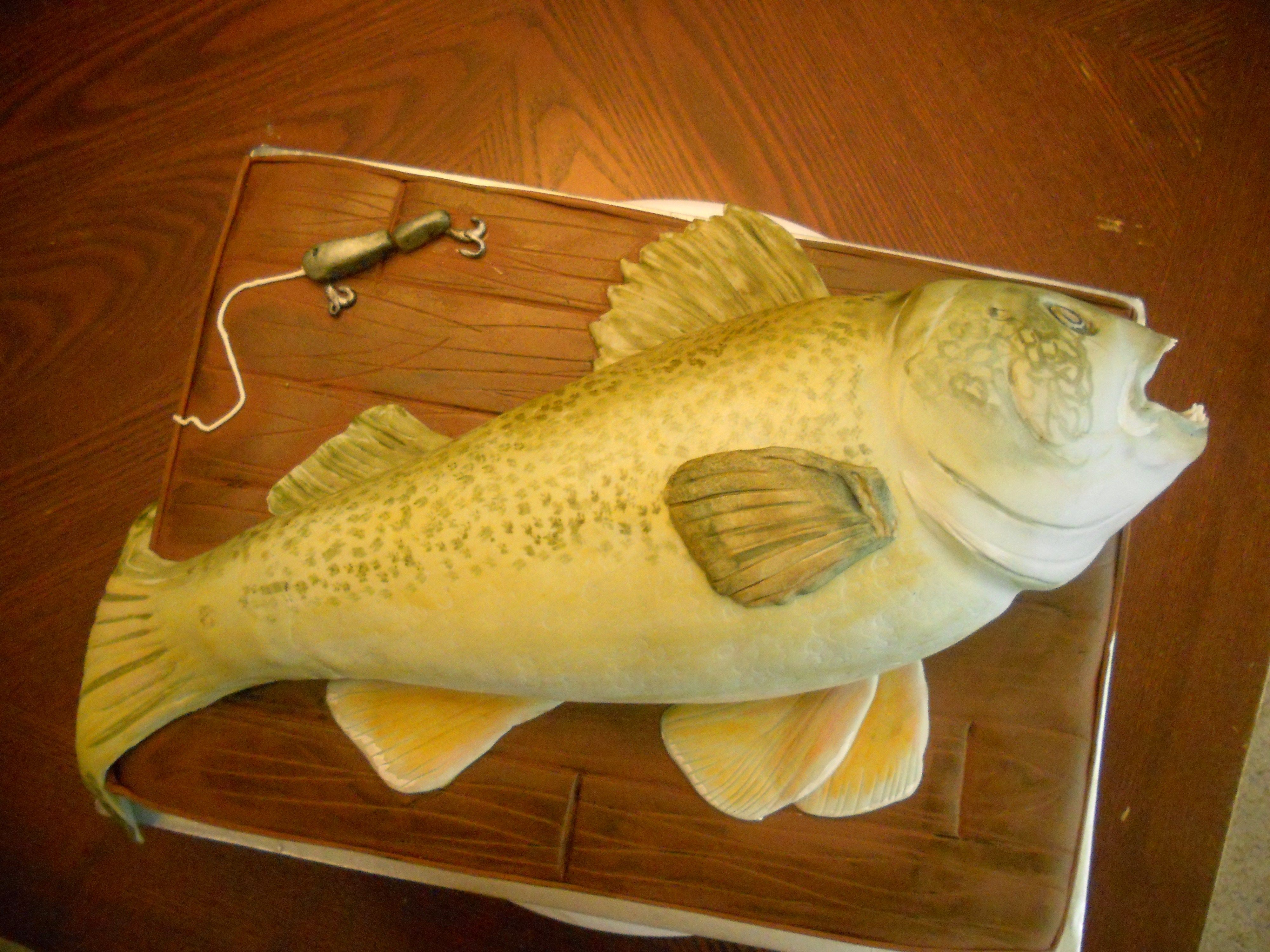 Pin walleye fish cake with pussy willow branches cake on for Fish in pussy