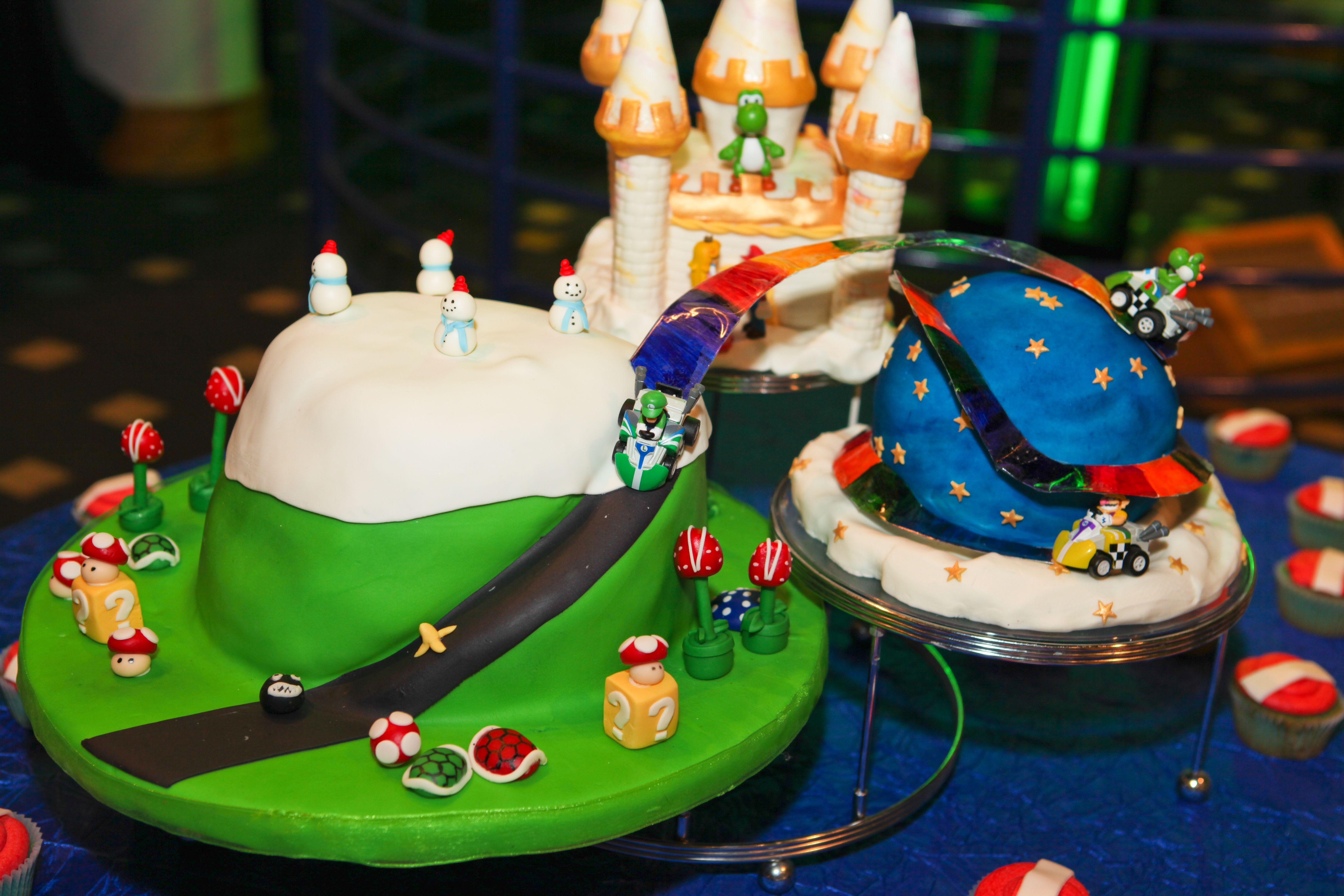 Mario Kart Cake WII Gaming System Pinterest