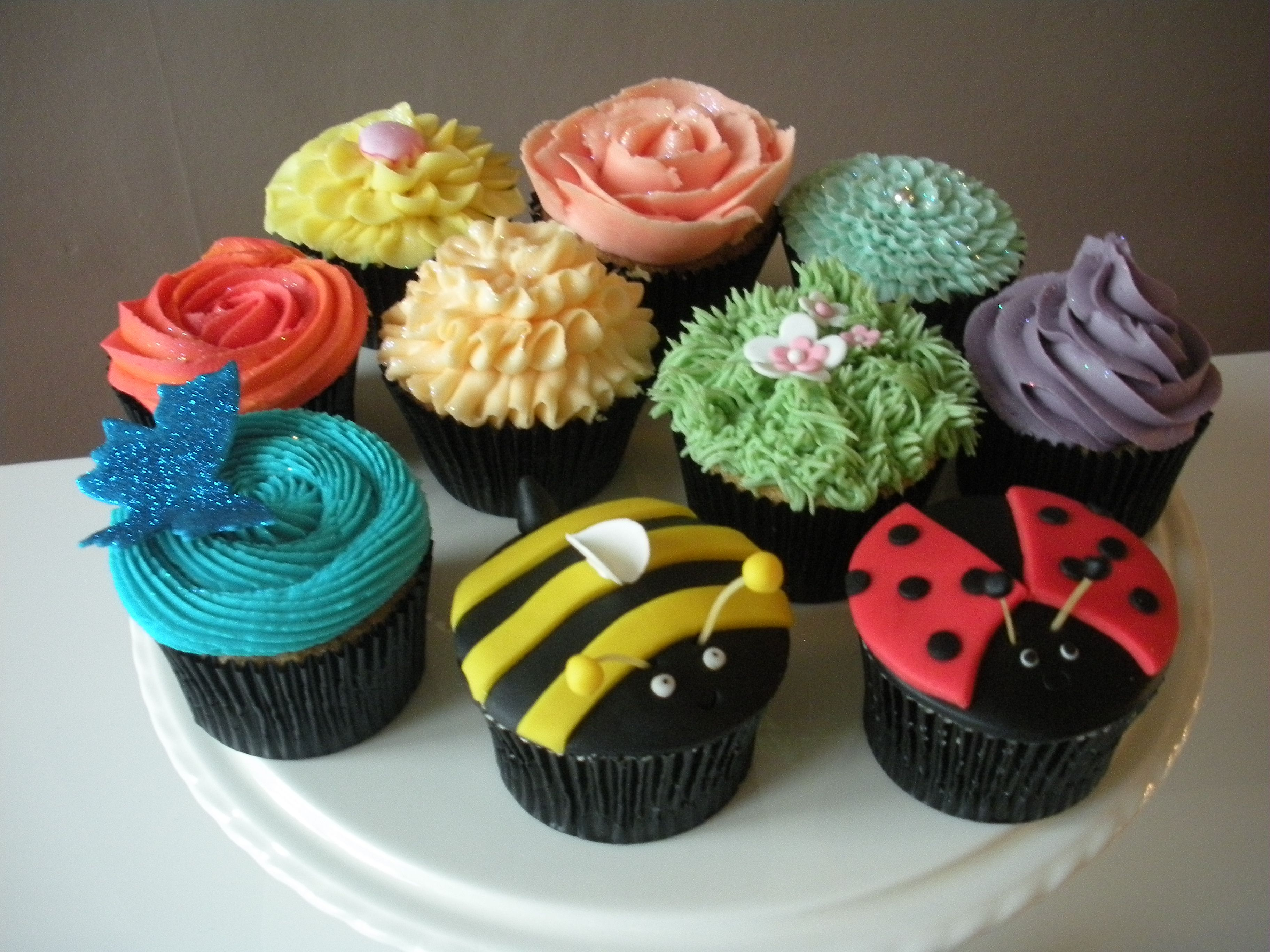 Nature cupcakes babyshower ideas pinterest for Ideas for thanksgiving cupcake decorations