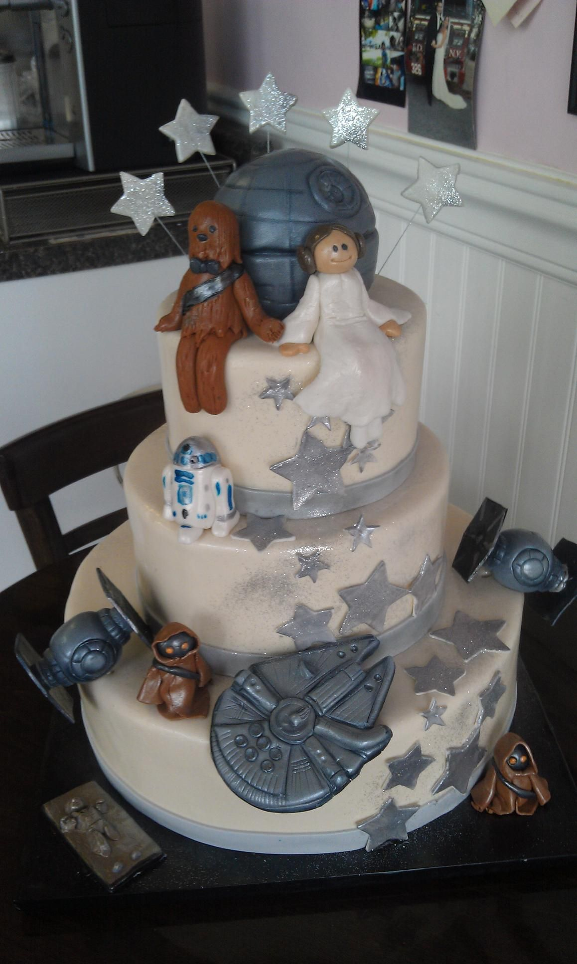 Star wars wedding cake Wedding Pinterest
