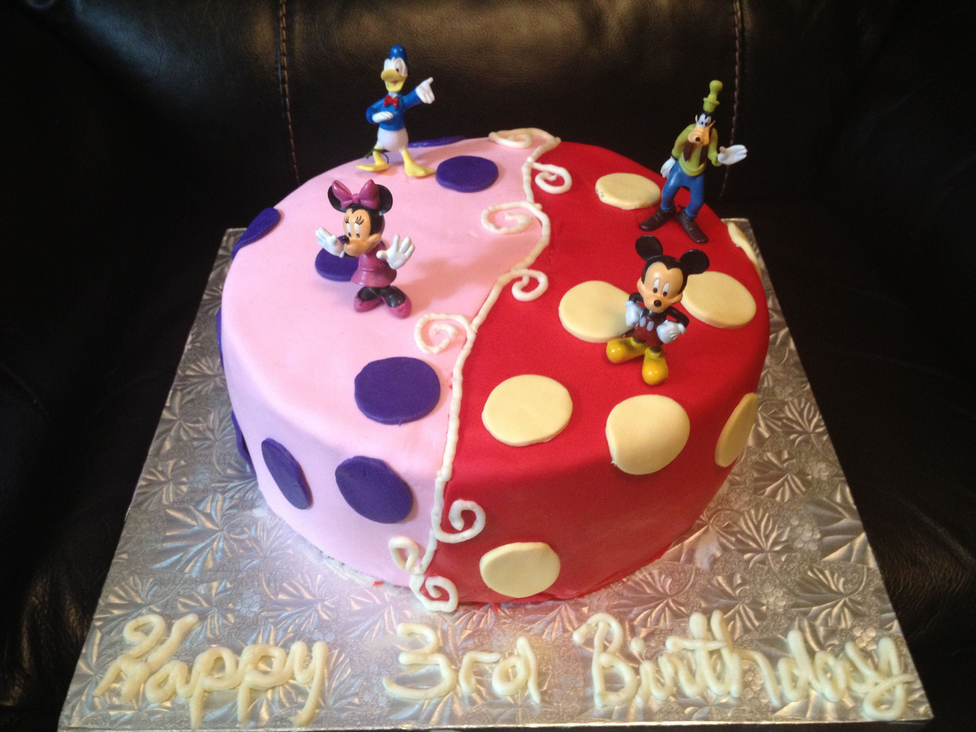 Mickey and Minnie Mouse Twins Cake !  www.facebook.com/sweetestperfe ...
