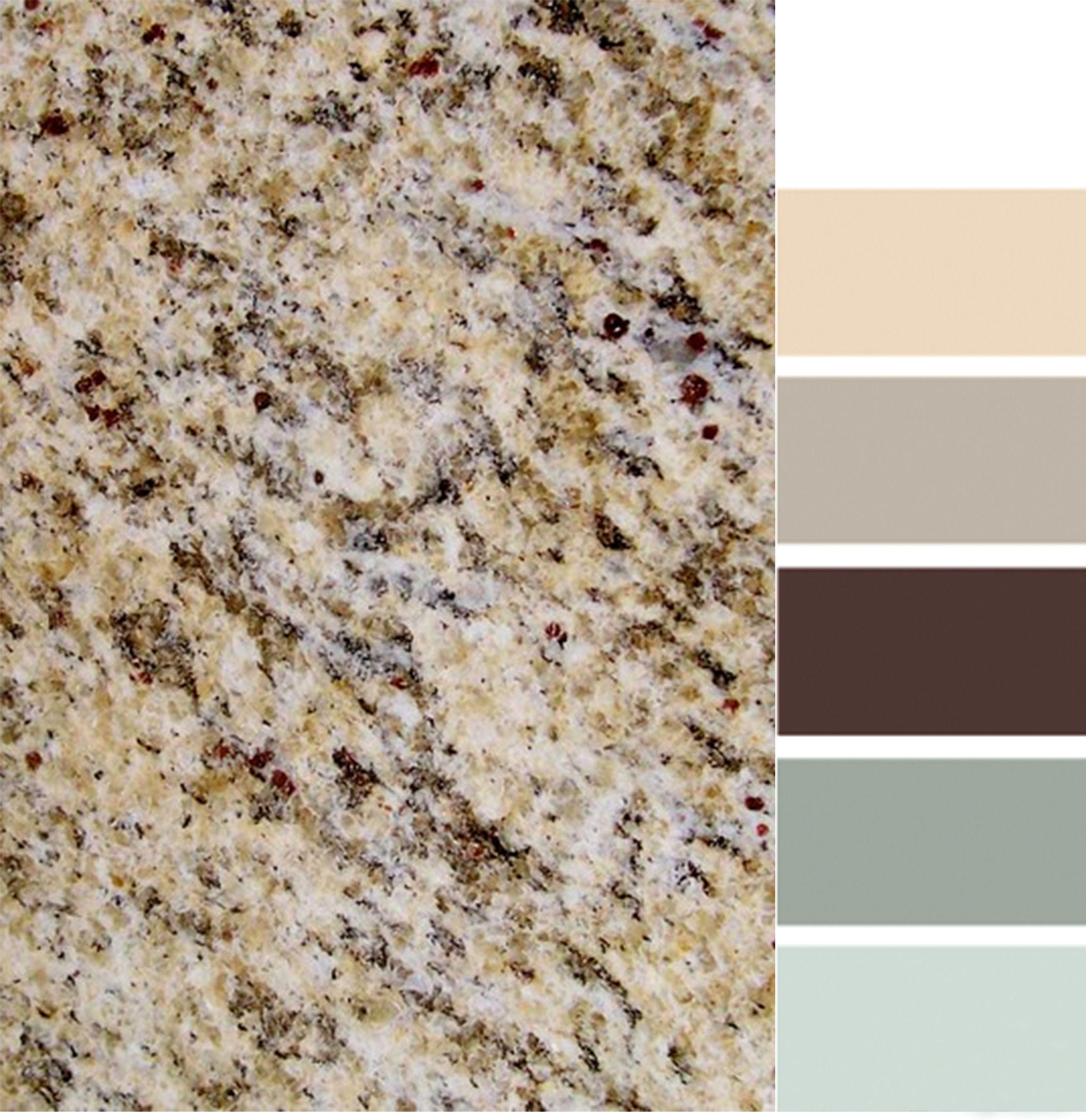 Santa Cecilia granite with color scheme. Kitchen Ideas Pinterest