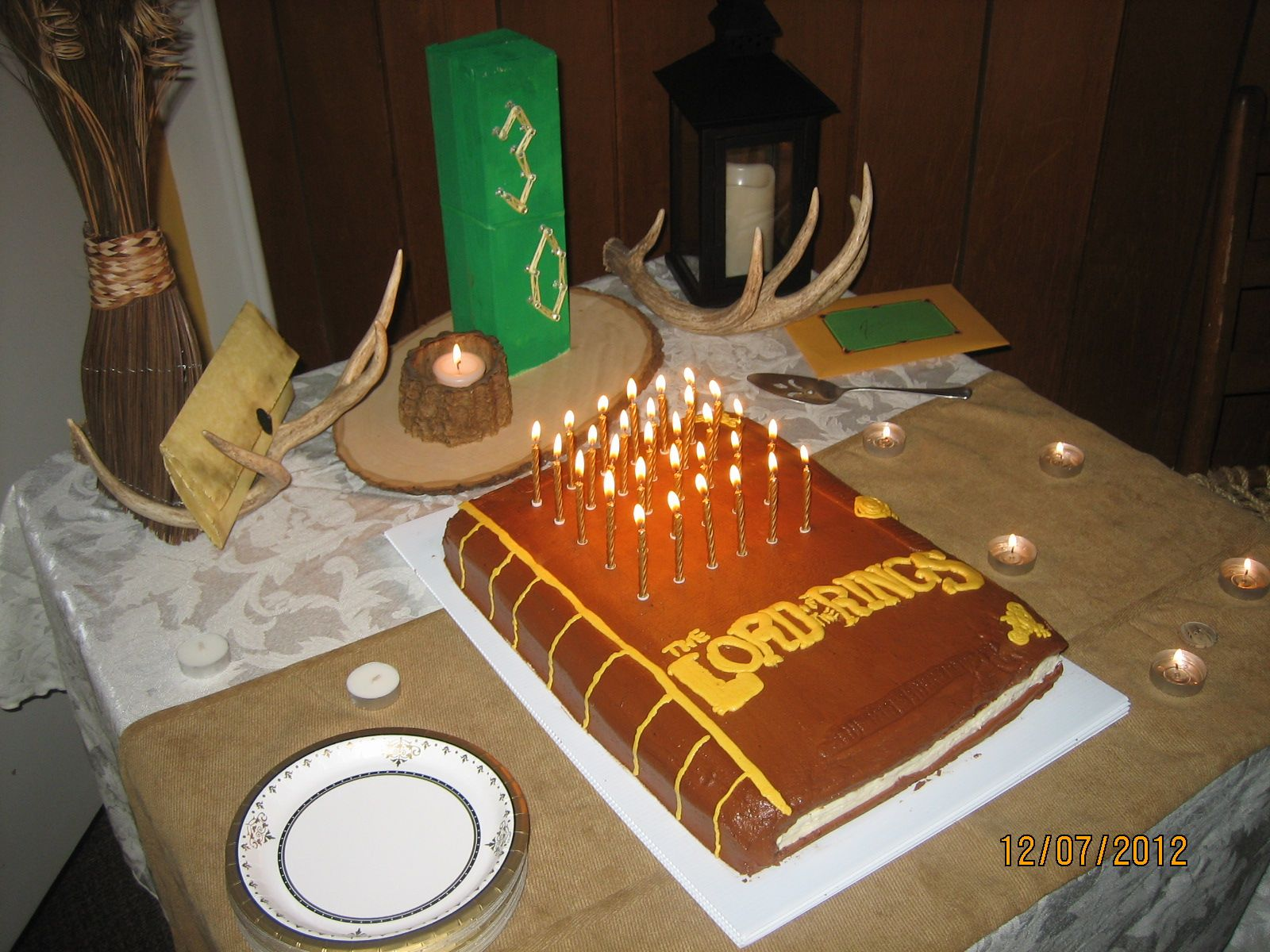 lord of the rings birthday cake