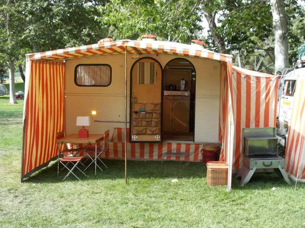Vintage Camper Awning 67