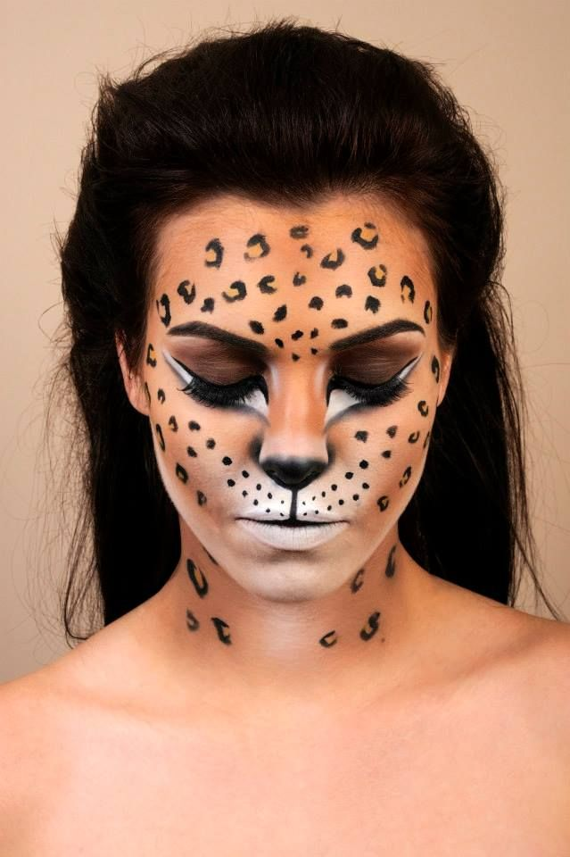 Facepainting Leopard | face painting | Pinterest