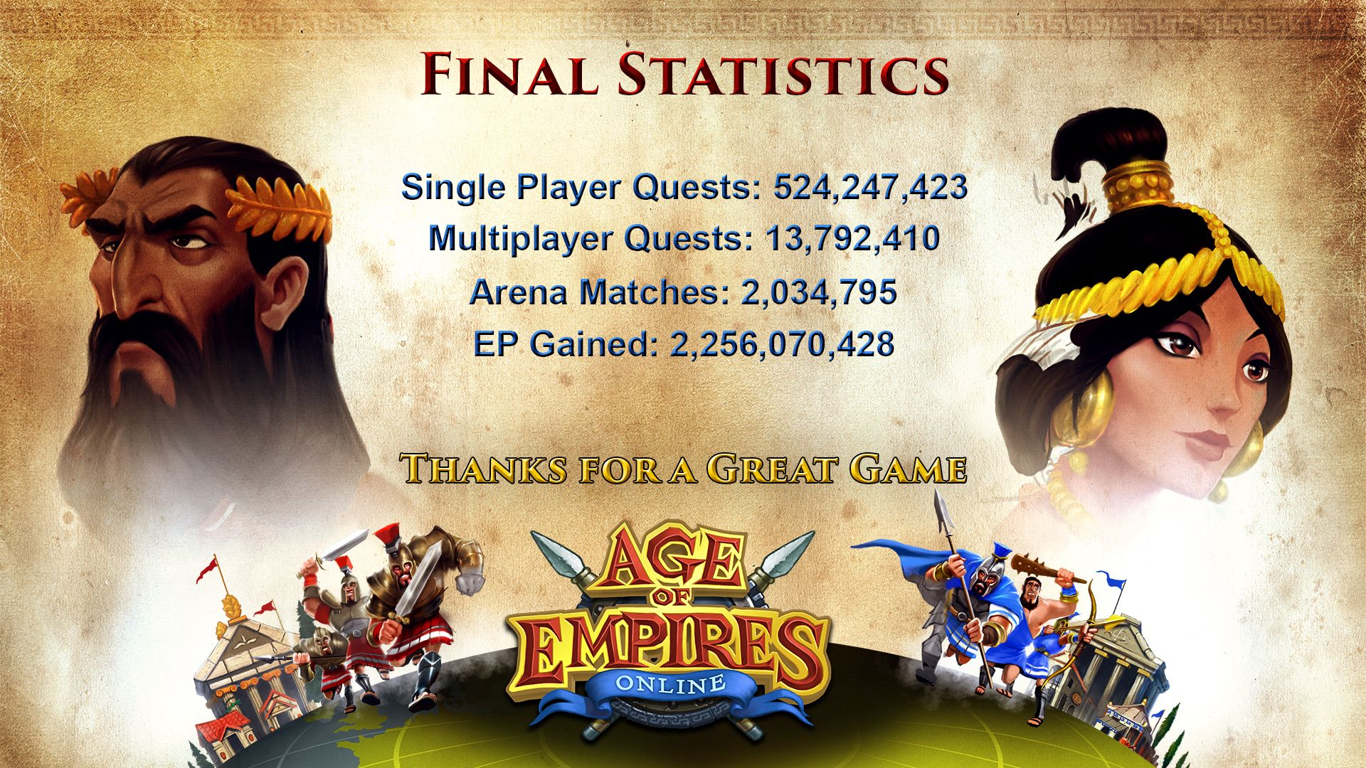 Age of Empires Online stats