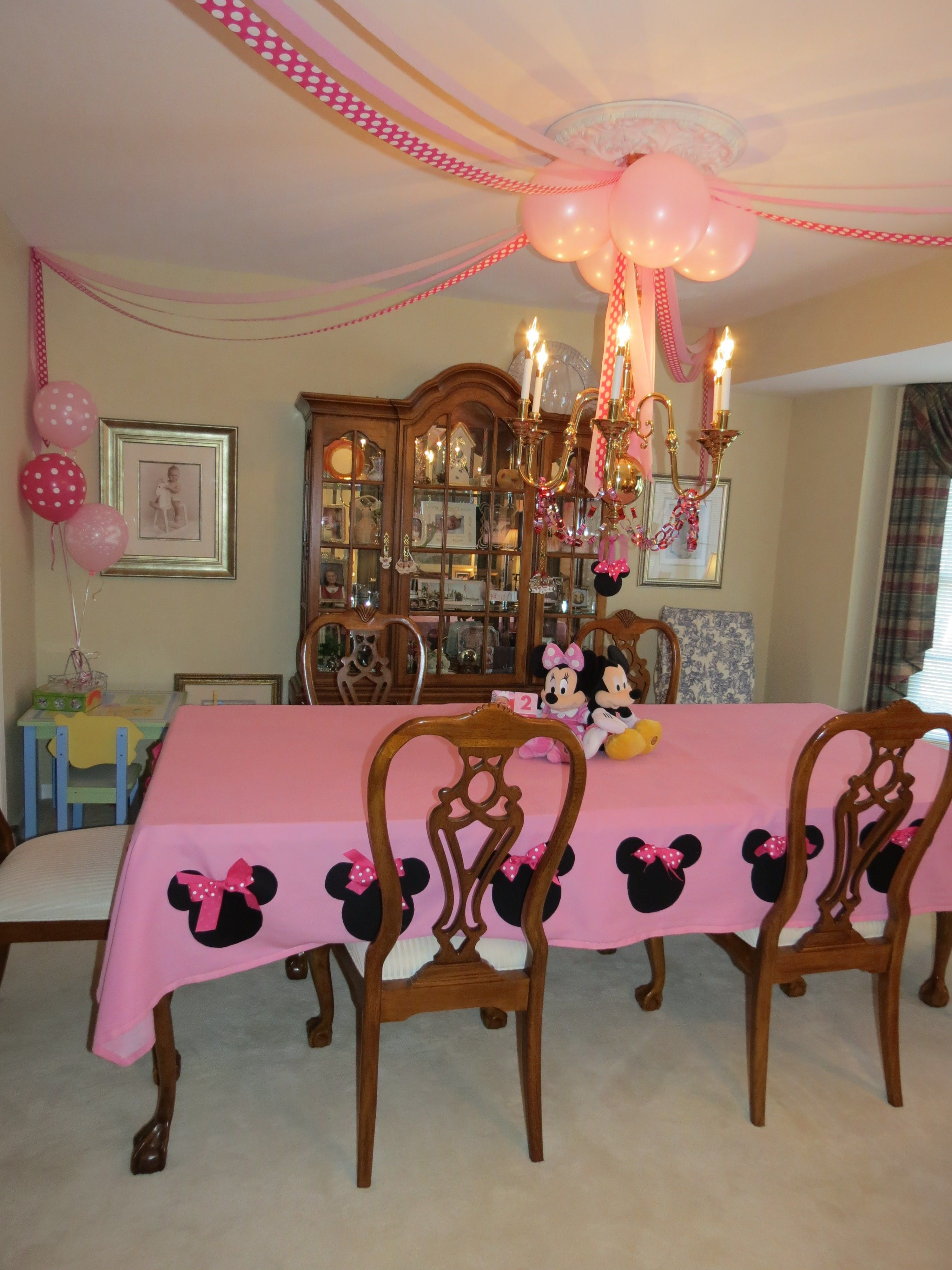 DIY Minnie Mouse Tablecloth  Party ideas  Pinterest