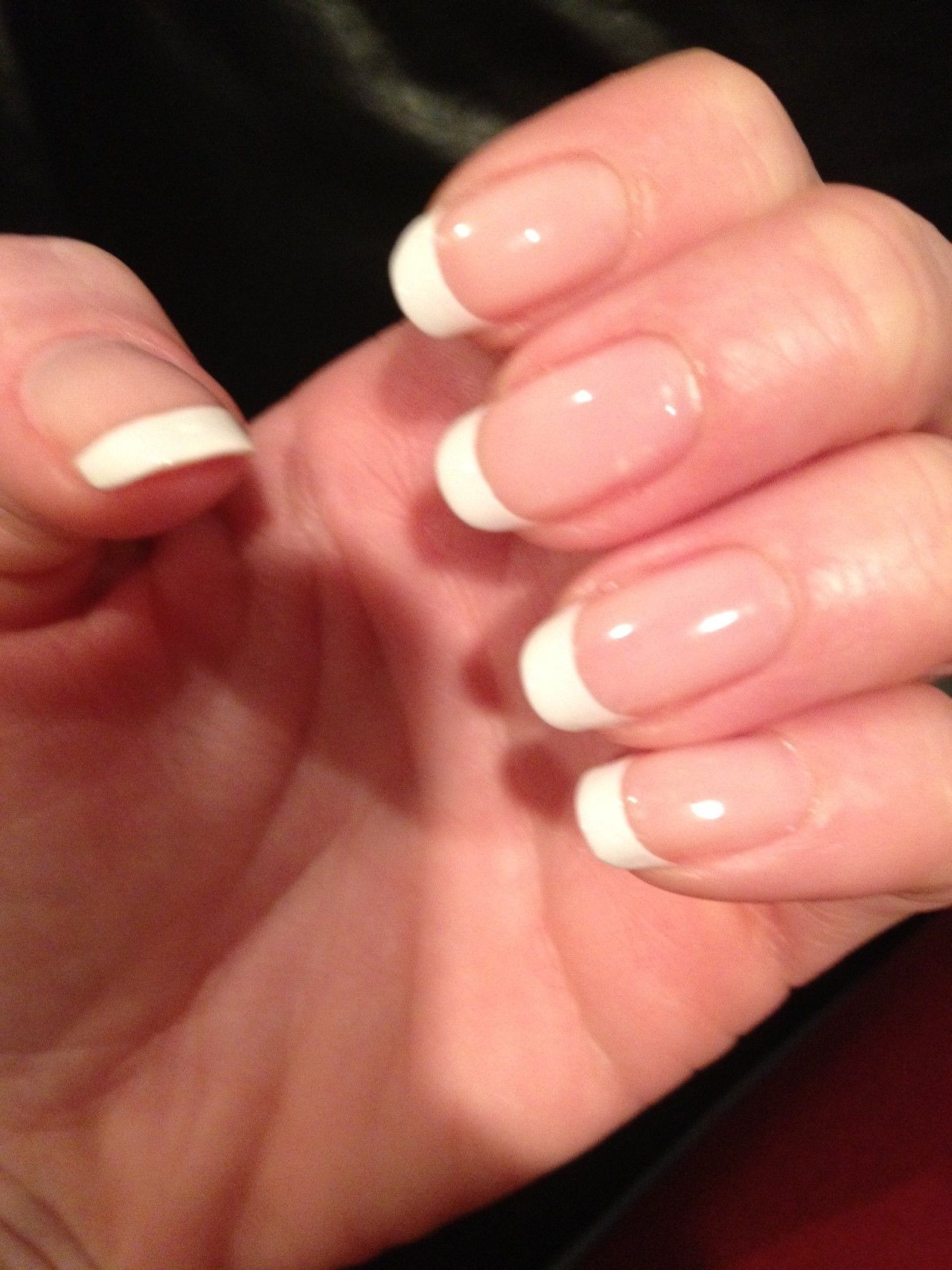gel nail french manicure. Love!  Pretty Nails  Pinterest