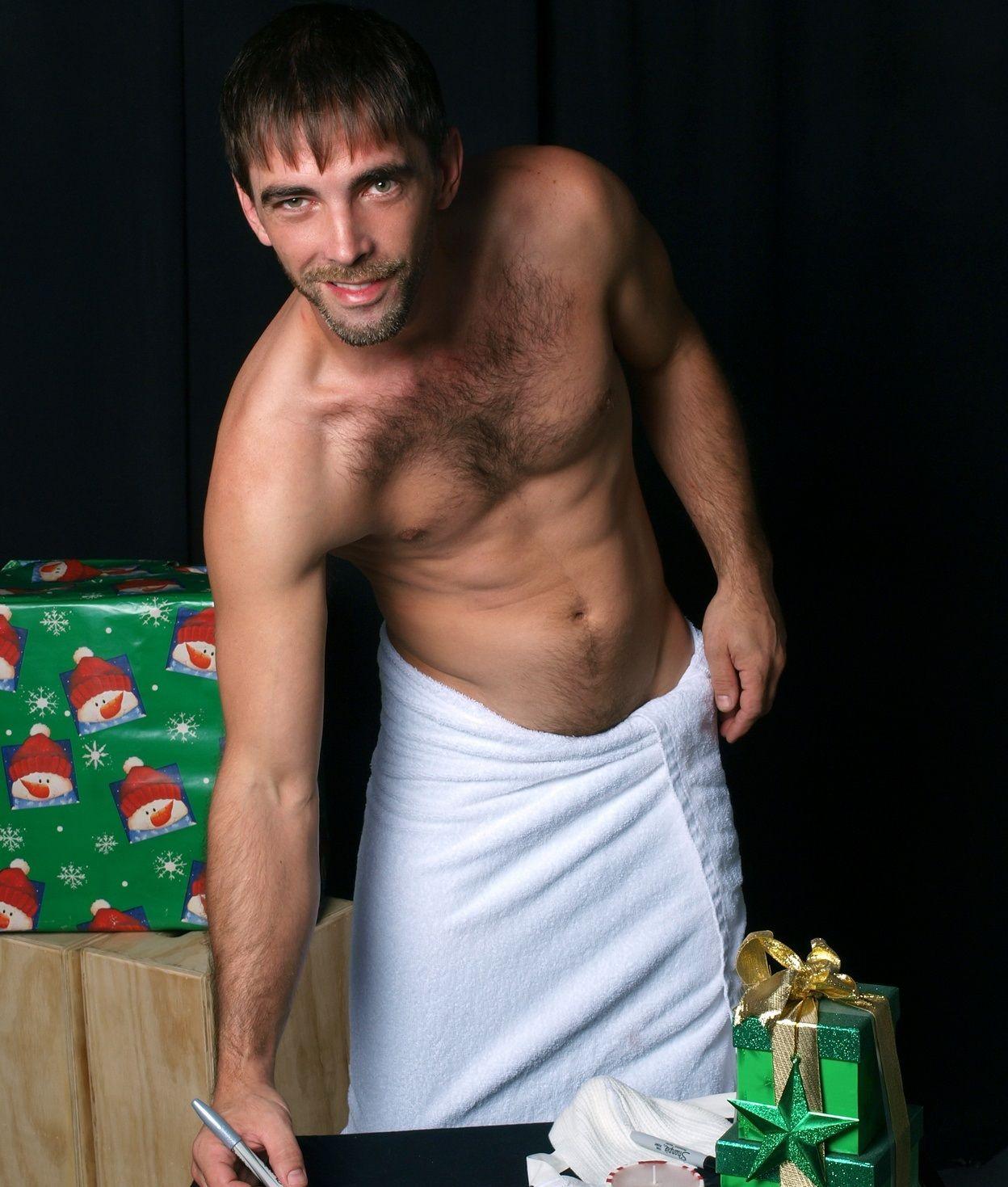 Joe Parker writing his Christmas list   ♂ Hunky Santas and New Year ...