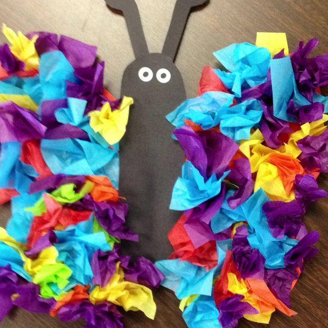 Tissue paper butterfly bugs and butterflies pinterest for Paper art butterfly